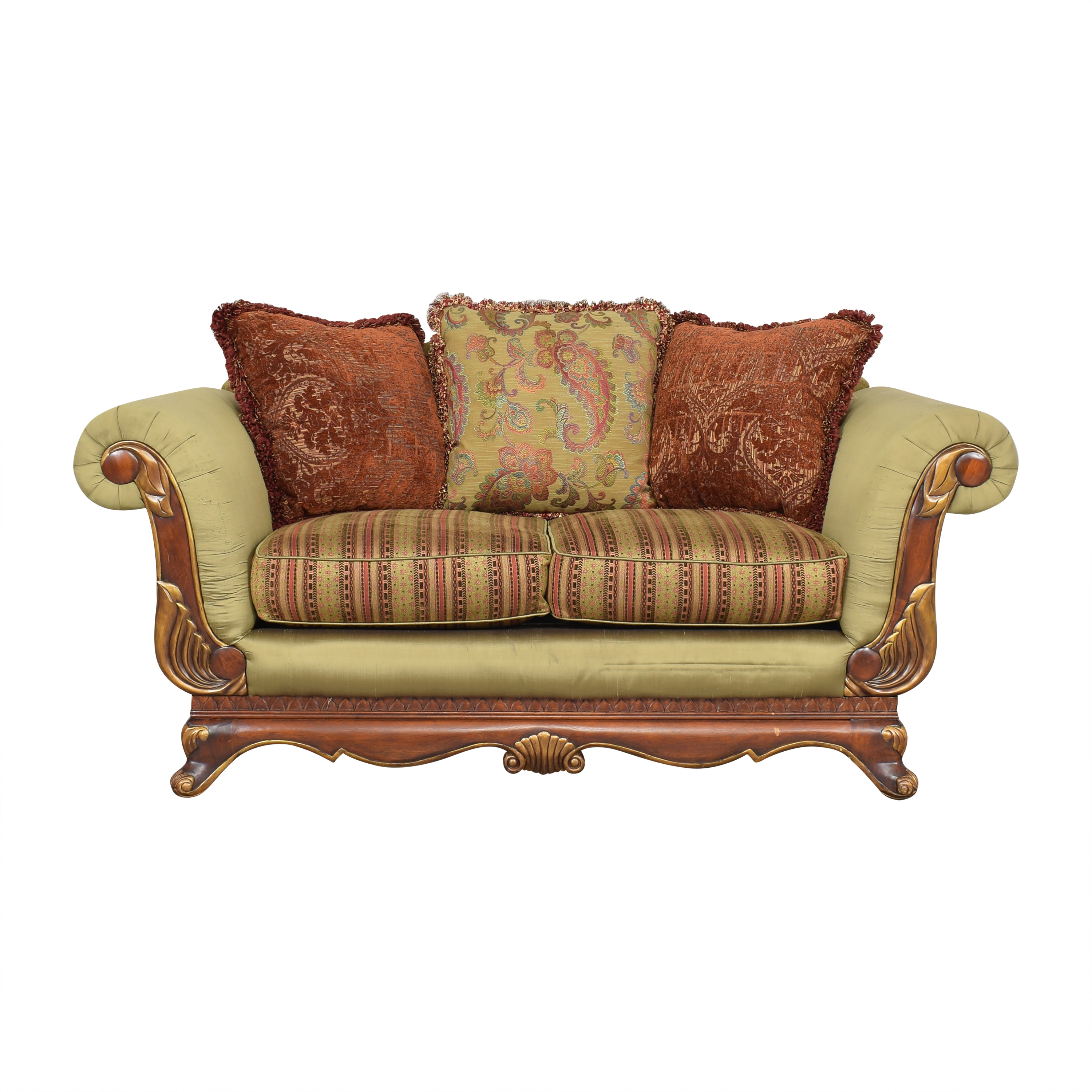Raymour & Flanigan Raymour & Flanigan Carved Loveseat nyc