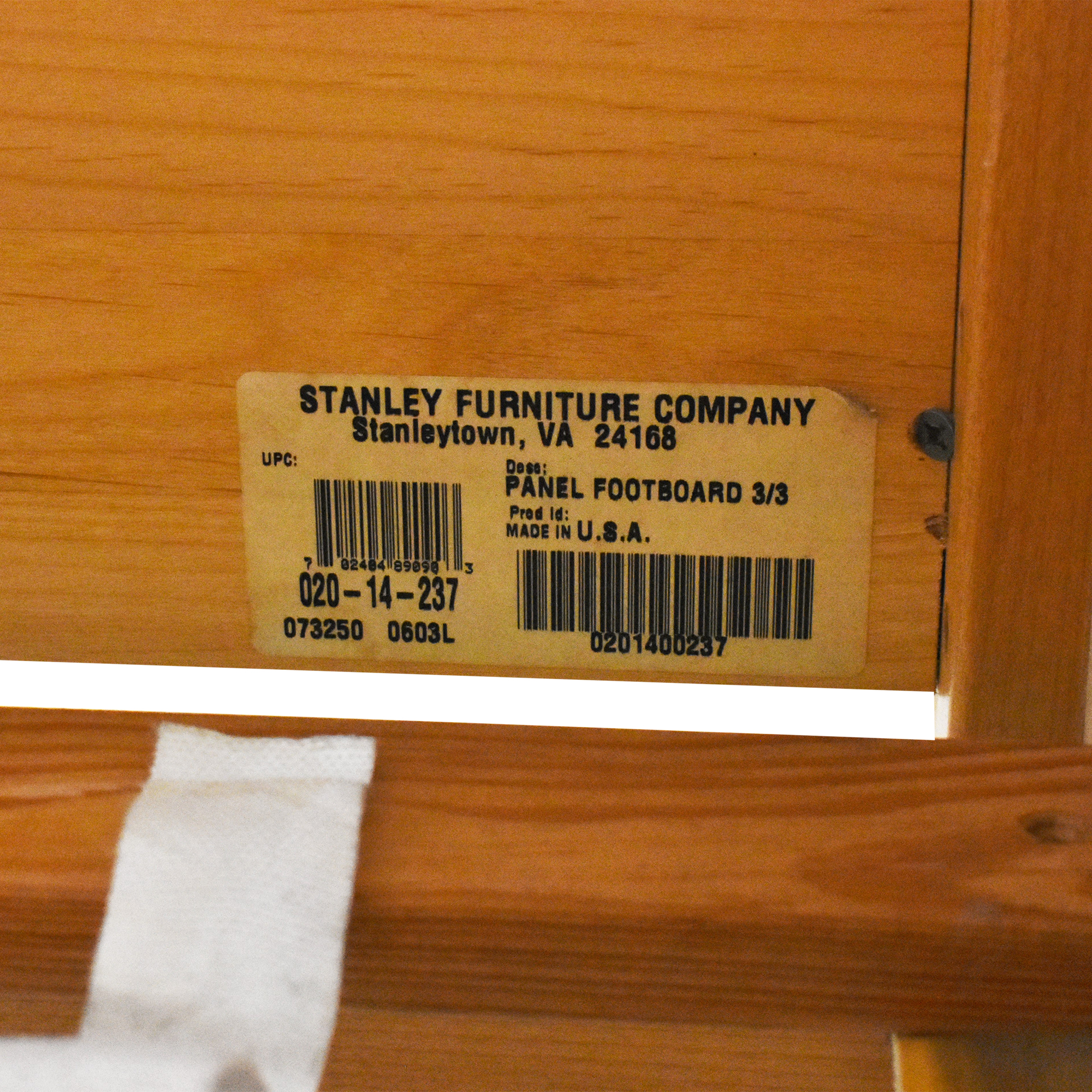 Stanley Furniture Stanley Furniture Twin Panel Bed on sale