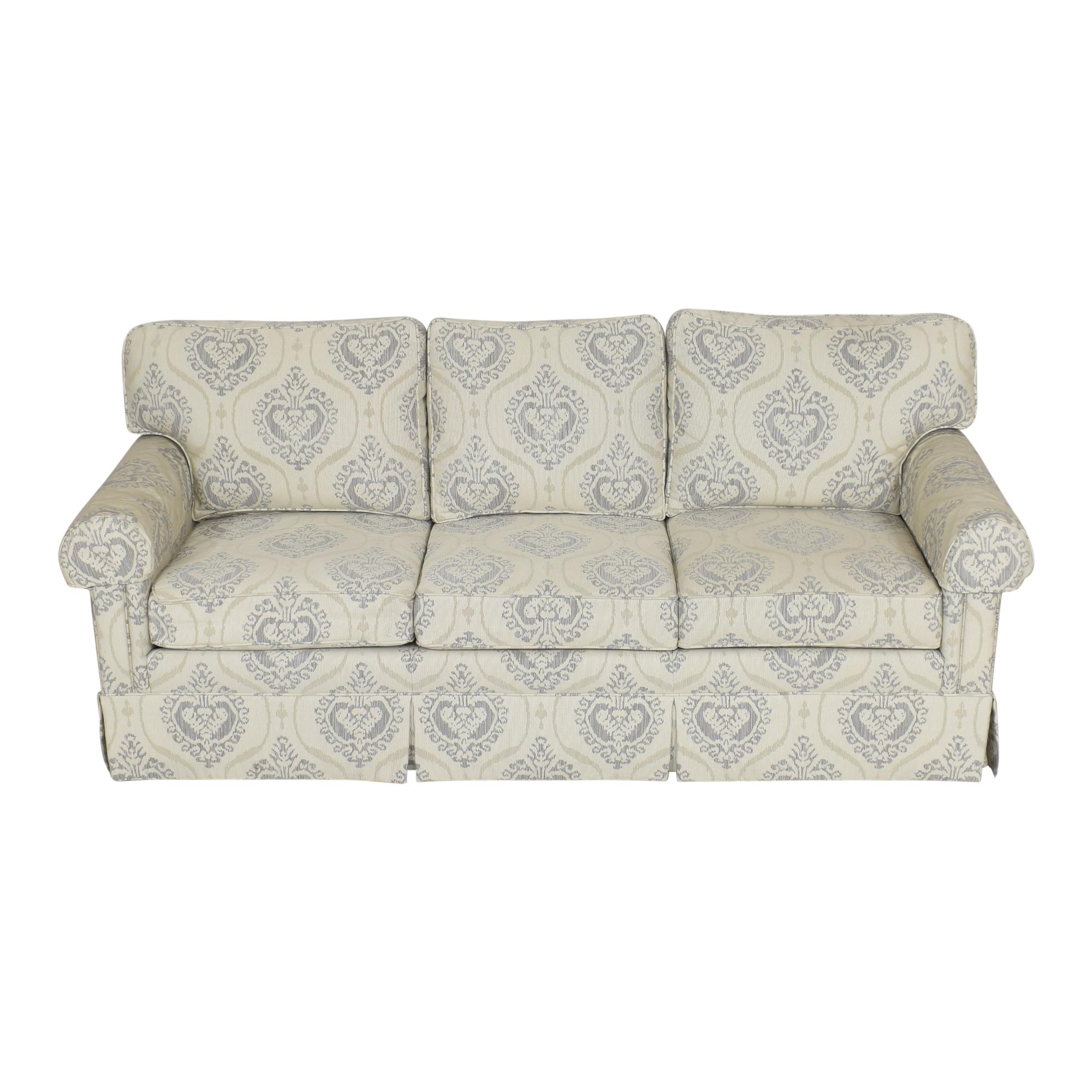 buy Ethan Allen Three Cushion Skirted Sofa Ethan Allen Classic Sofas