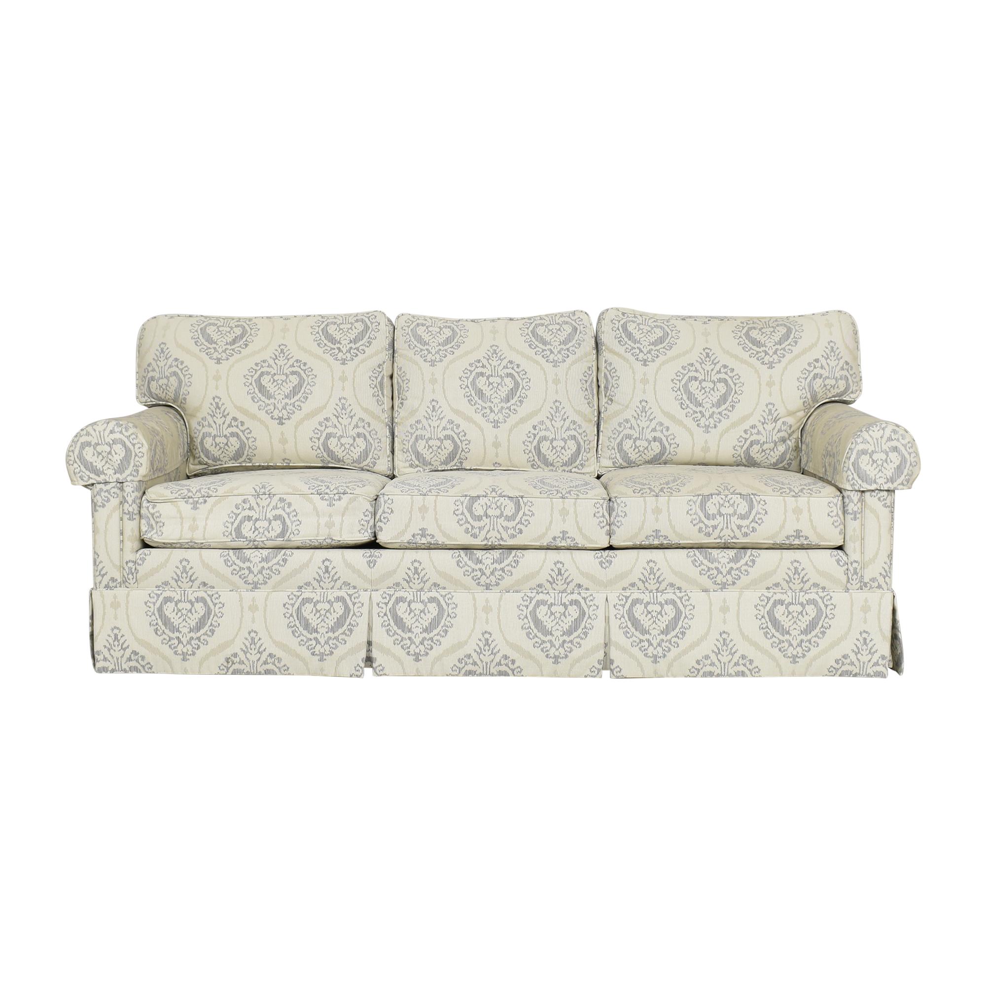 Ethan Allen Ethan Allen Three Cushion Skirted Sofa Classic Sofas