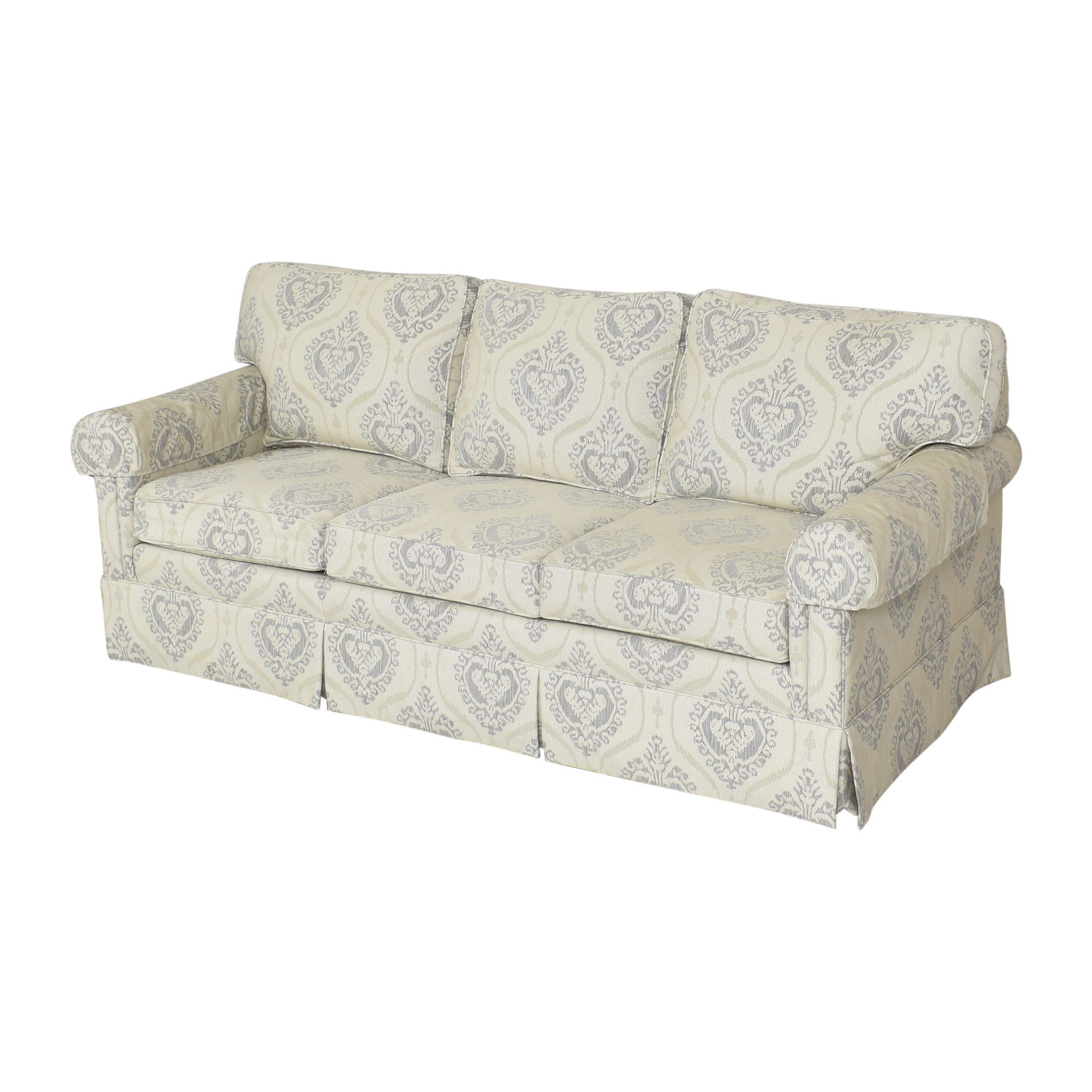 buy Ethan Allen Ethan Allen Three Cushion Skirted Sofa online