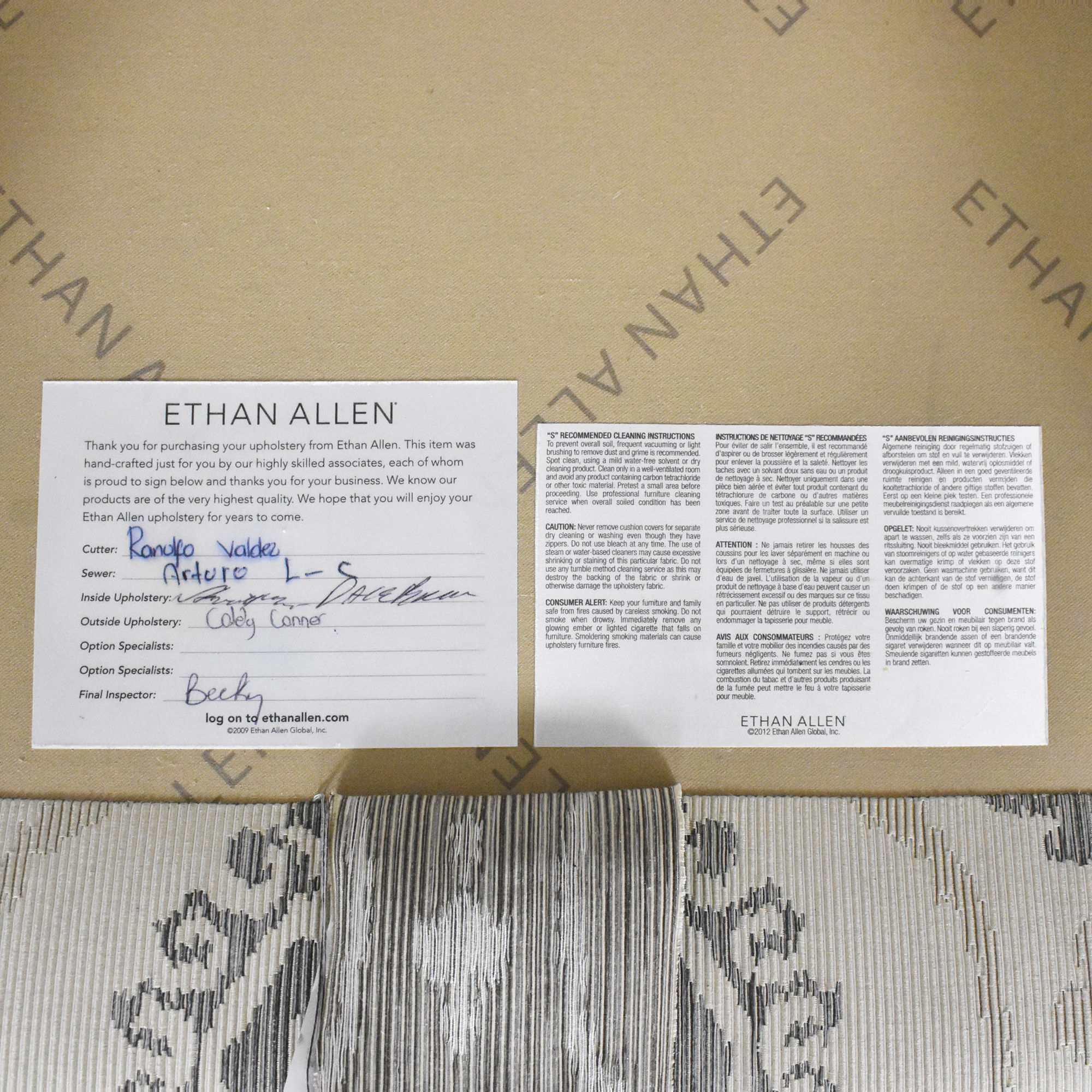 Ethan Allen Ethan Allen Three Cushion Skirted Sofa used