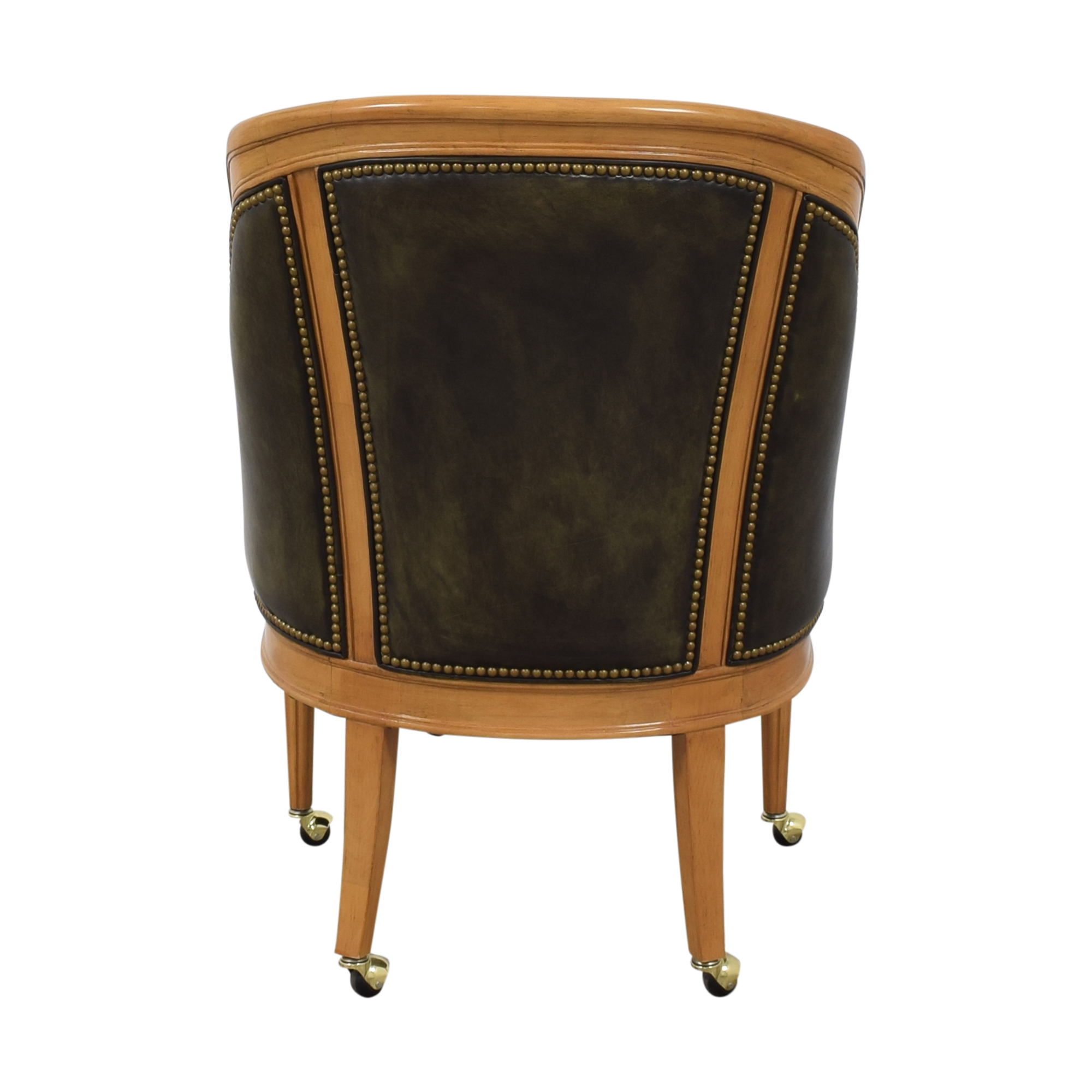 Tufted Barrel Chair on Casters nyc