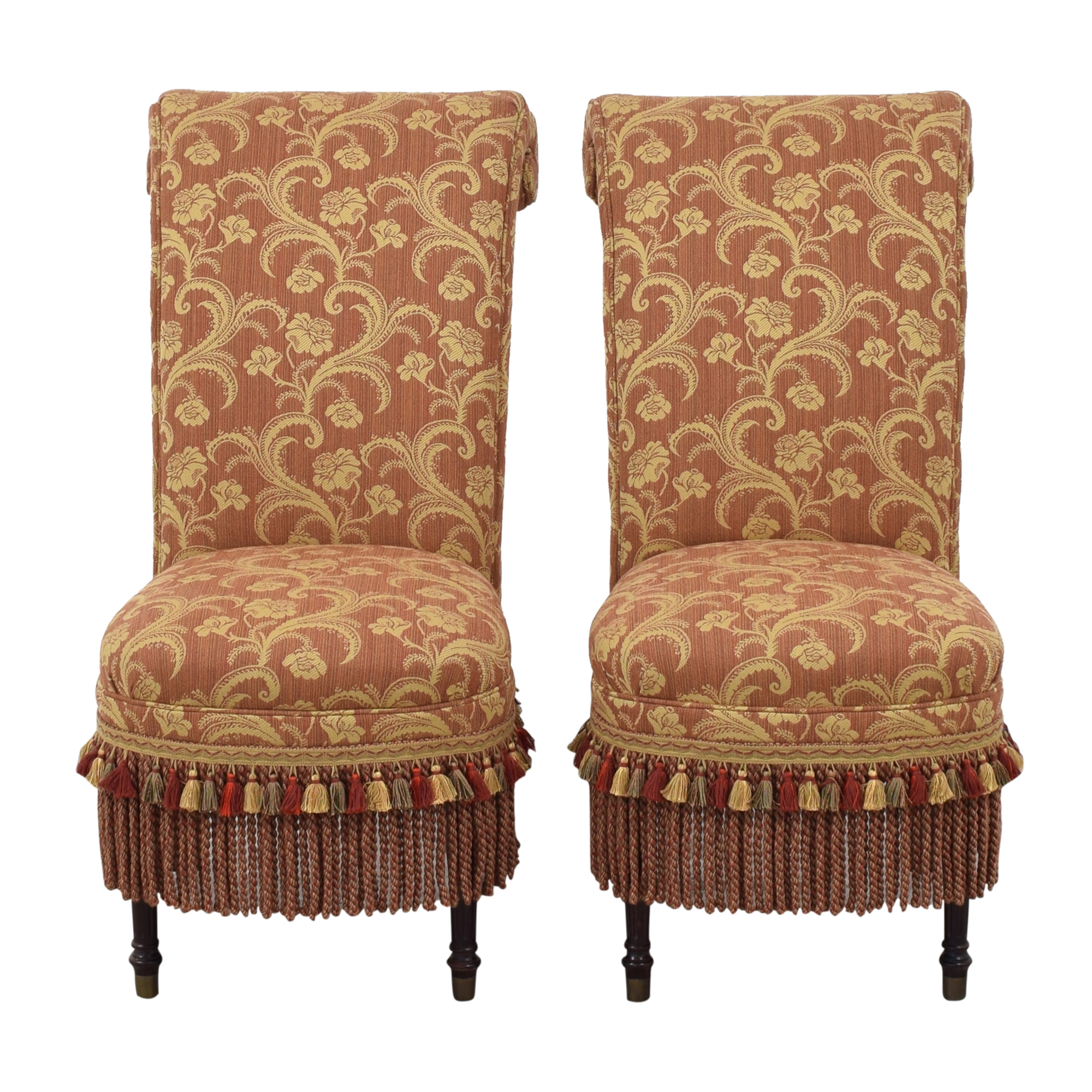 Designmaster Furniture Designmaster Furniture Scroll Top Accent Chairs on sale