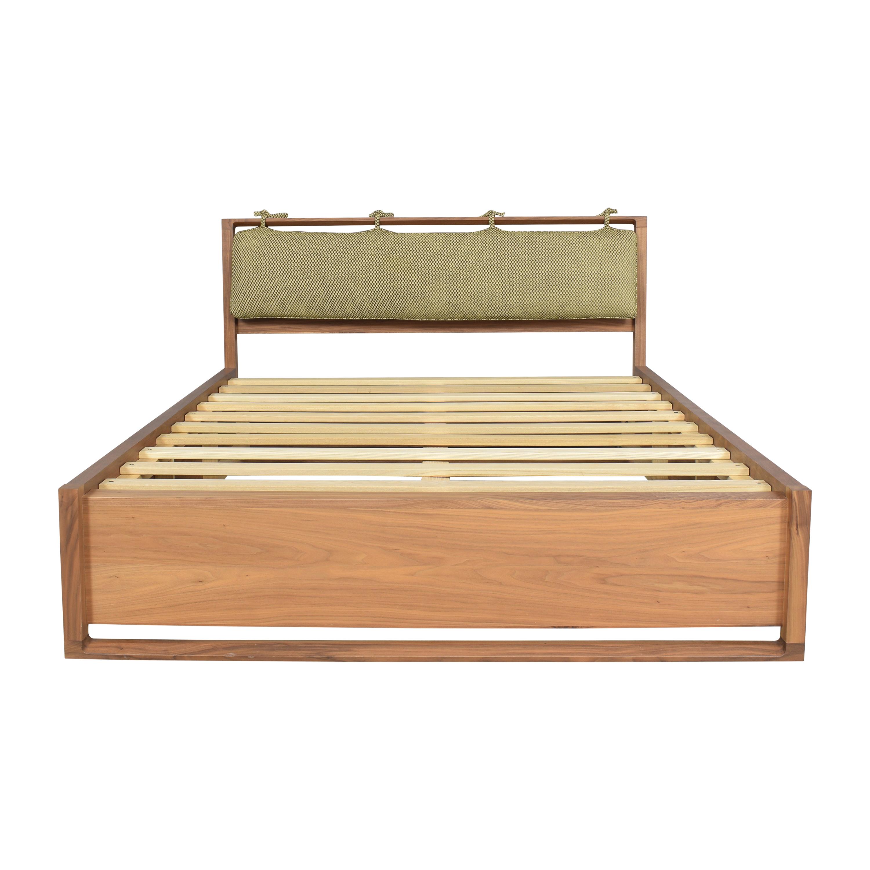 buy Mid-Century Style Platform Queen Bed