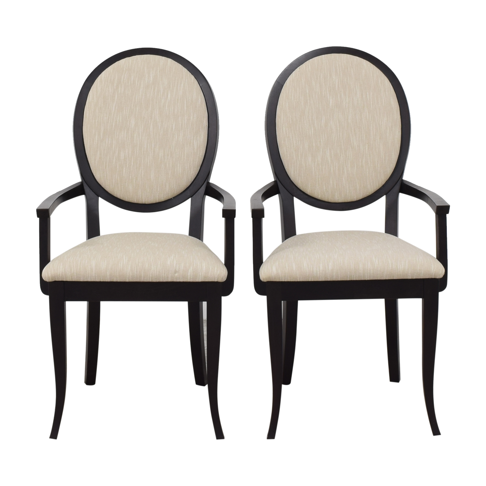 buy Oval Back Dining Arm Chairs