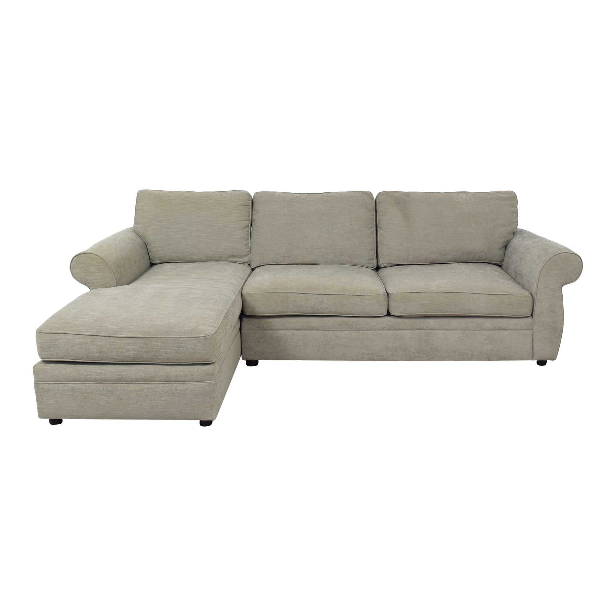 buy Pottery Barn Pearce Roll Arm Upholstered Sofa Chaise Sectional online
