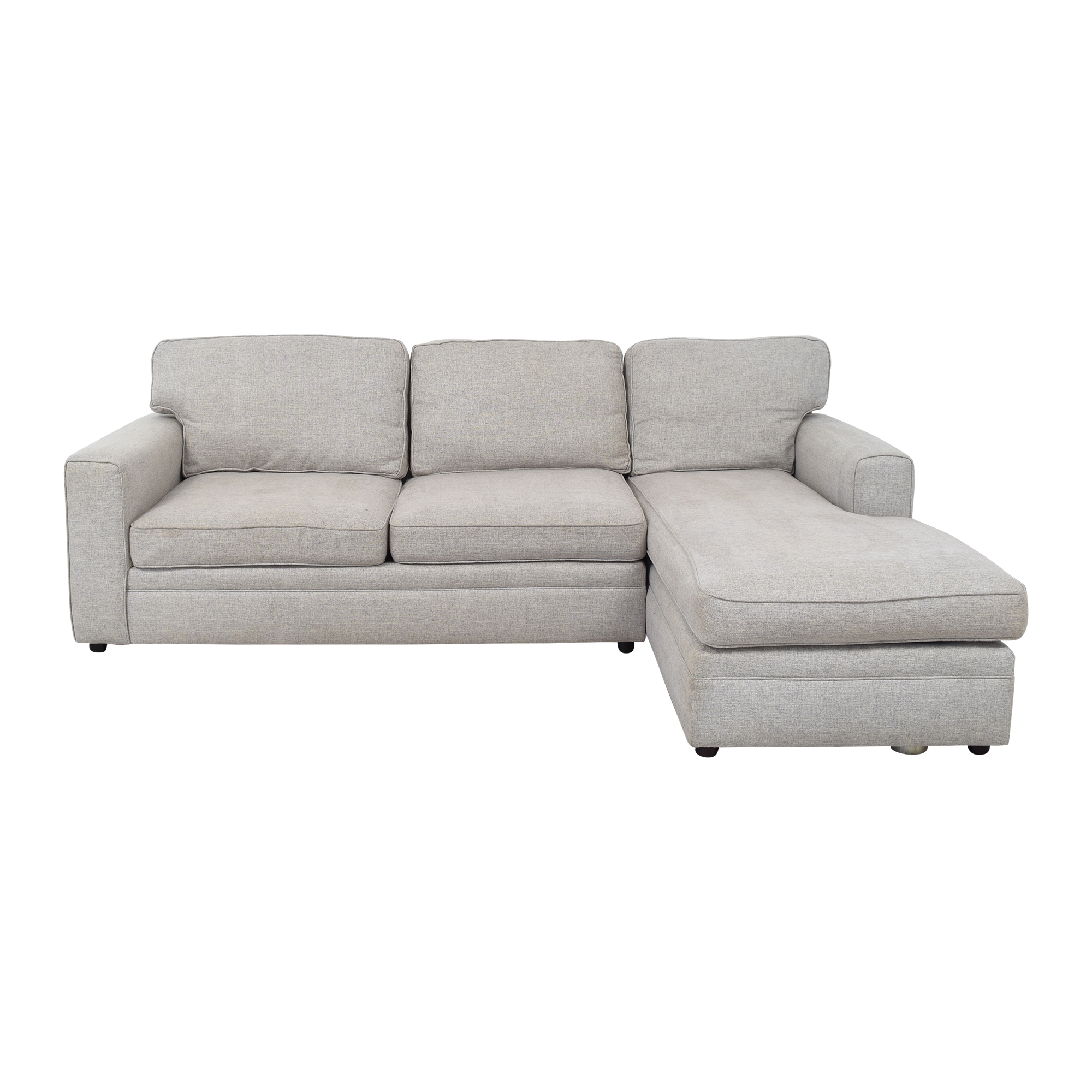 Pottery Barn Pottery Barn Pearce Square Arm Upholstered Chaise Sectional Sofa pa