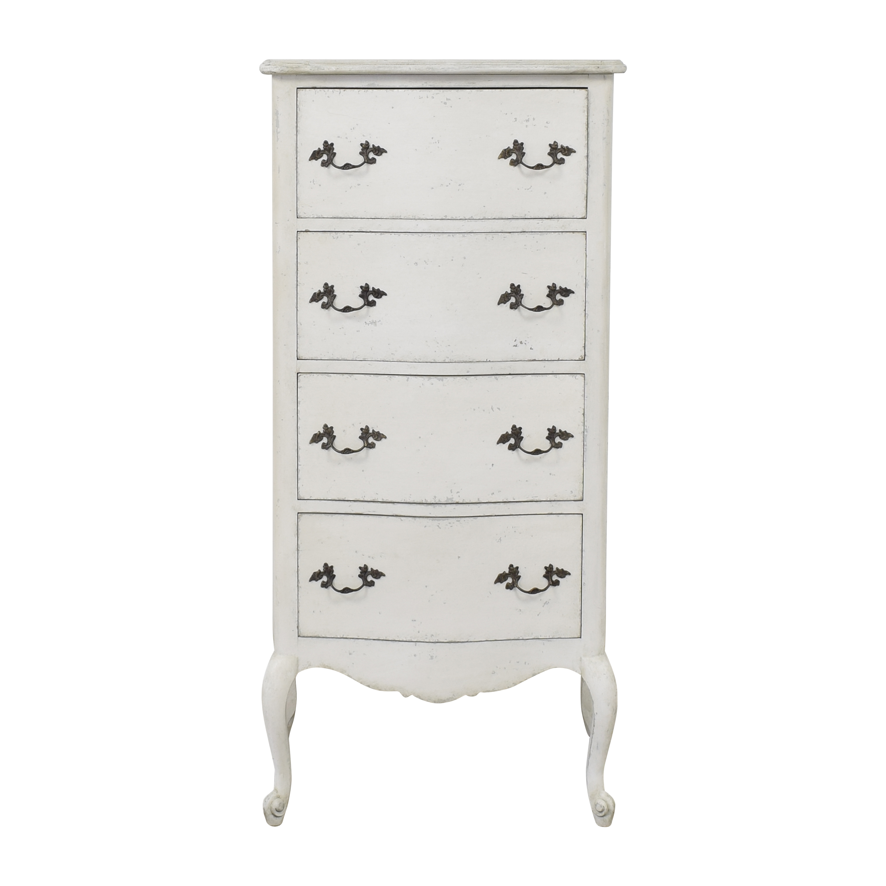 Eloquence Eloquence Clementine French Country Four Drawer Narrow Chest nj
