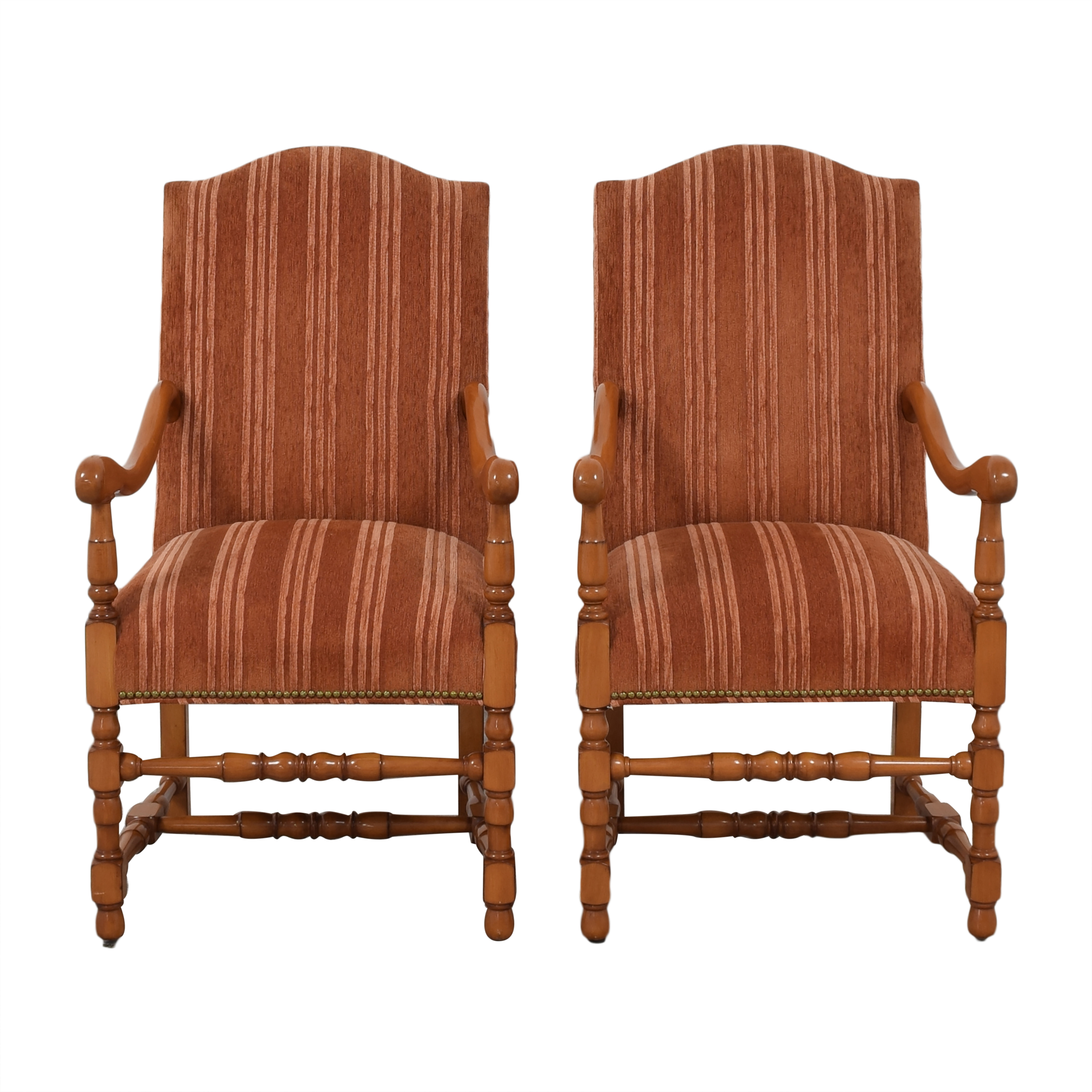 Louis XIV Upholstered Dining Arm Chairs price