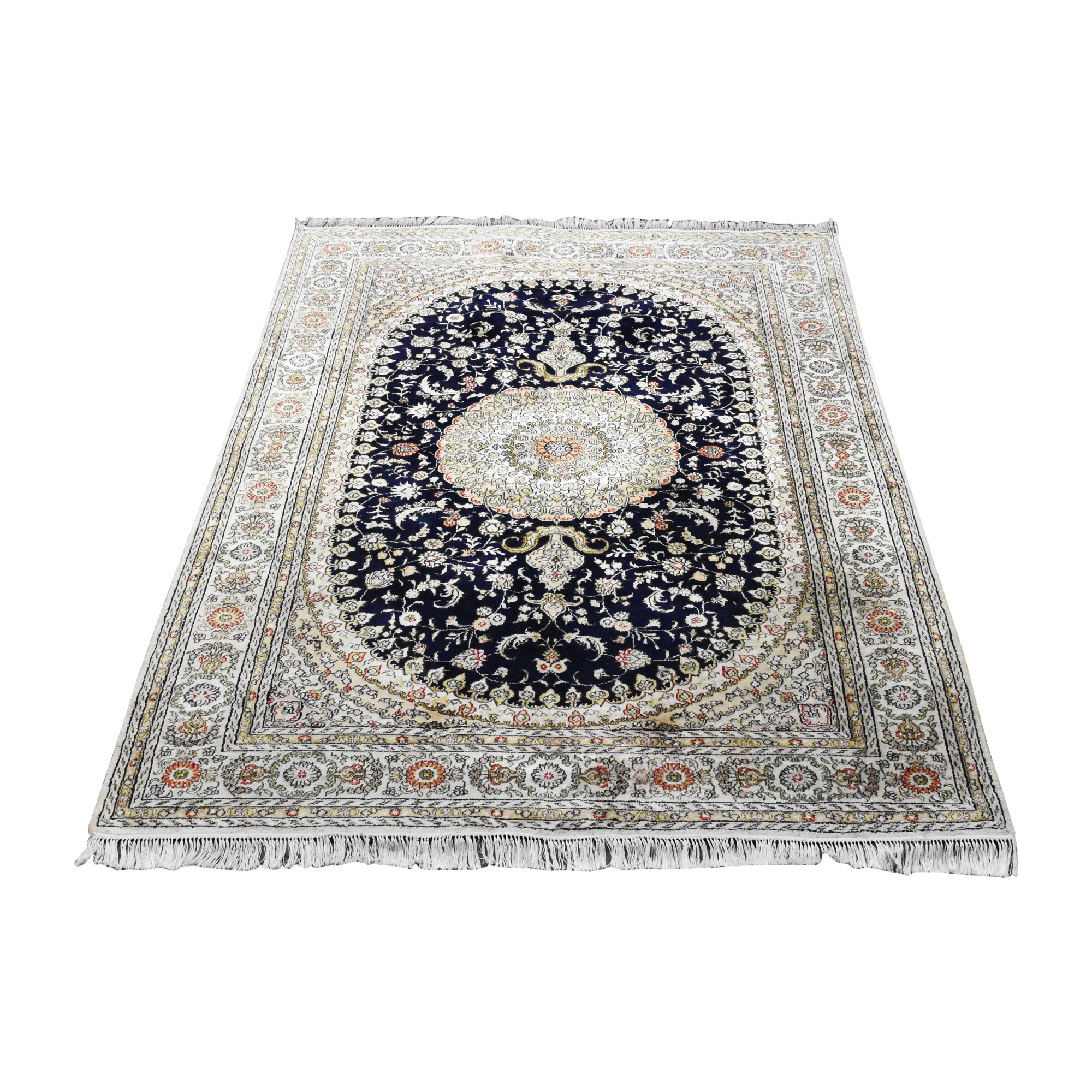 Moroccan-Style Fringed Area Rug dimensions