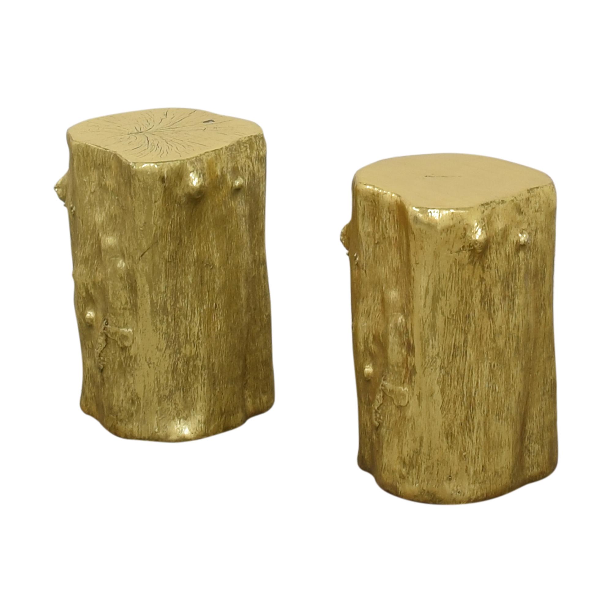 Decorative Log Stools discount