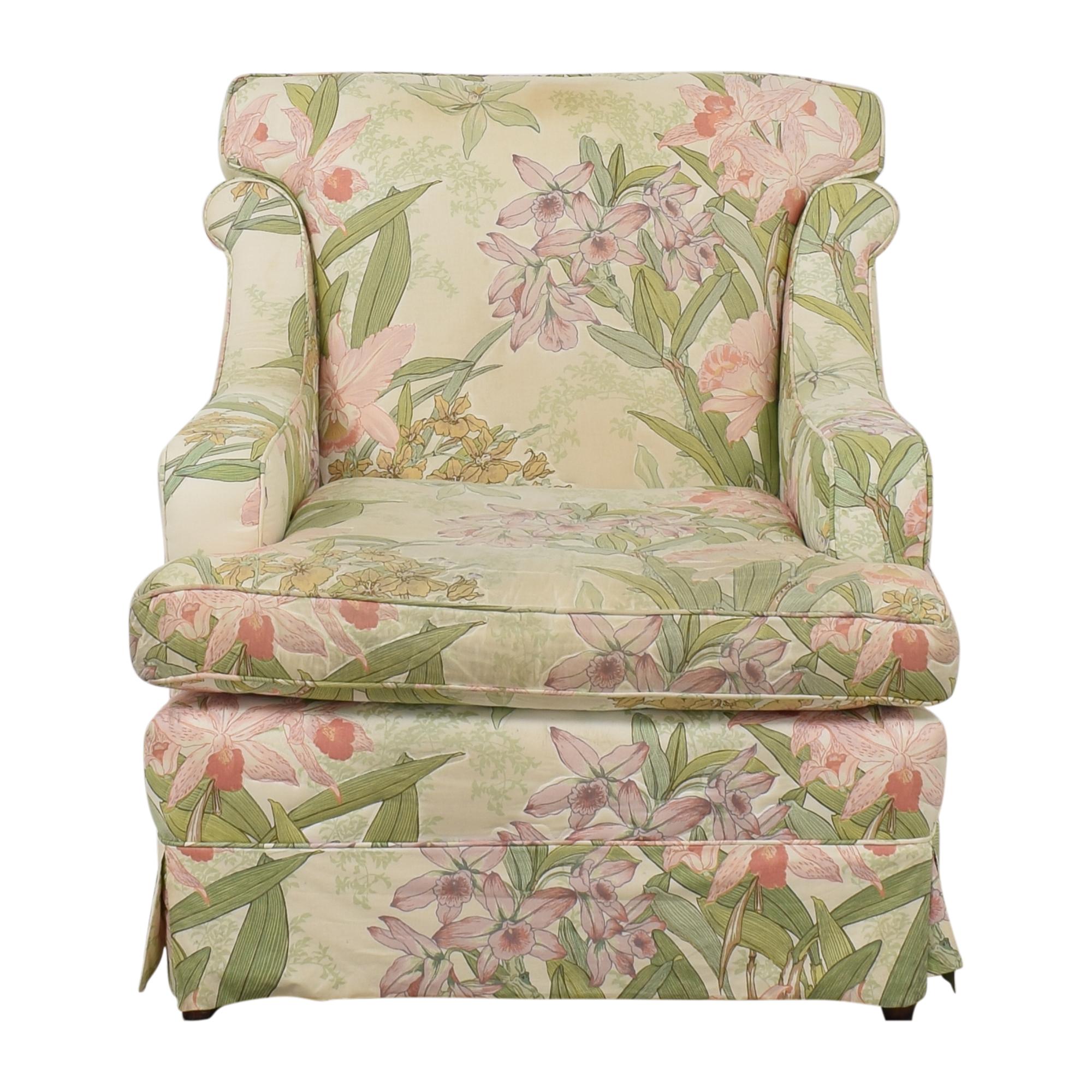 Drexel Heritage Floral Accent Chair sale