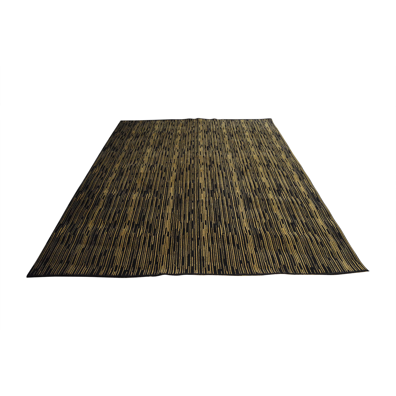 Striped Contemporary Area Rug nj