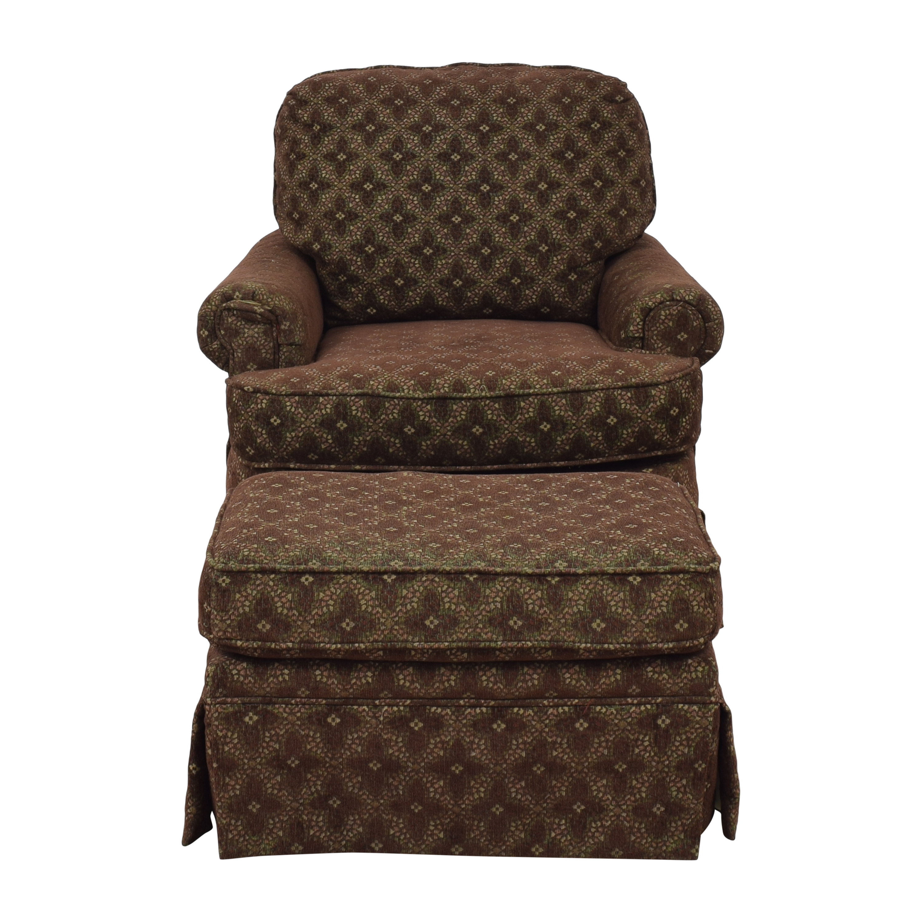 shop Rowe Furniture Club Chair with Ottoman Rowe Furniture Chairs