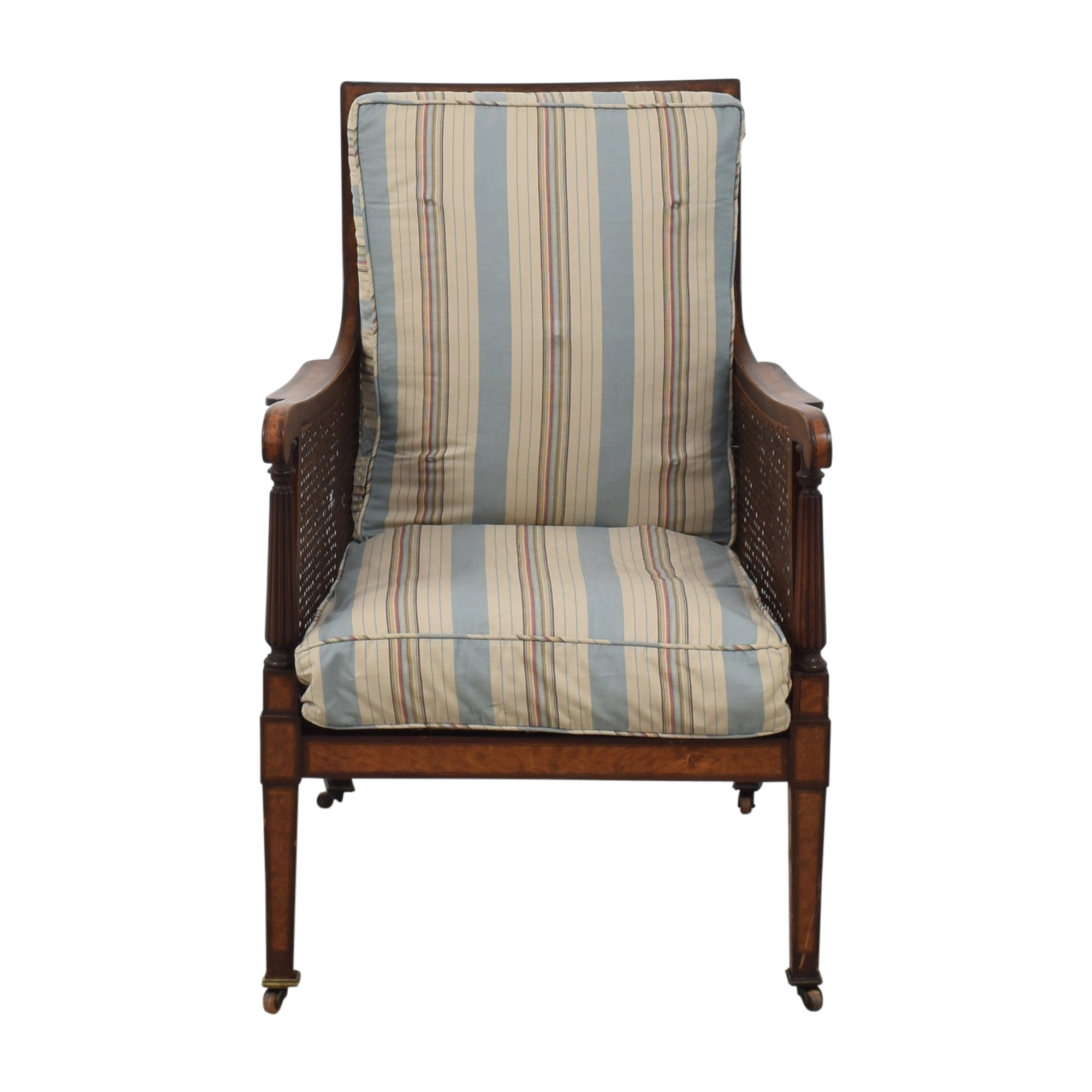 Vintage-Style Library Bergere Chair for sale