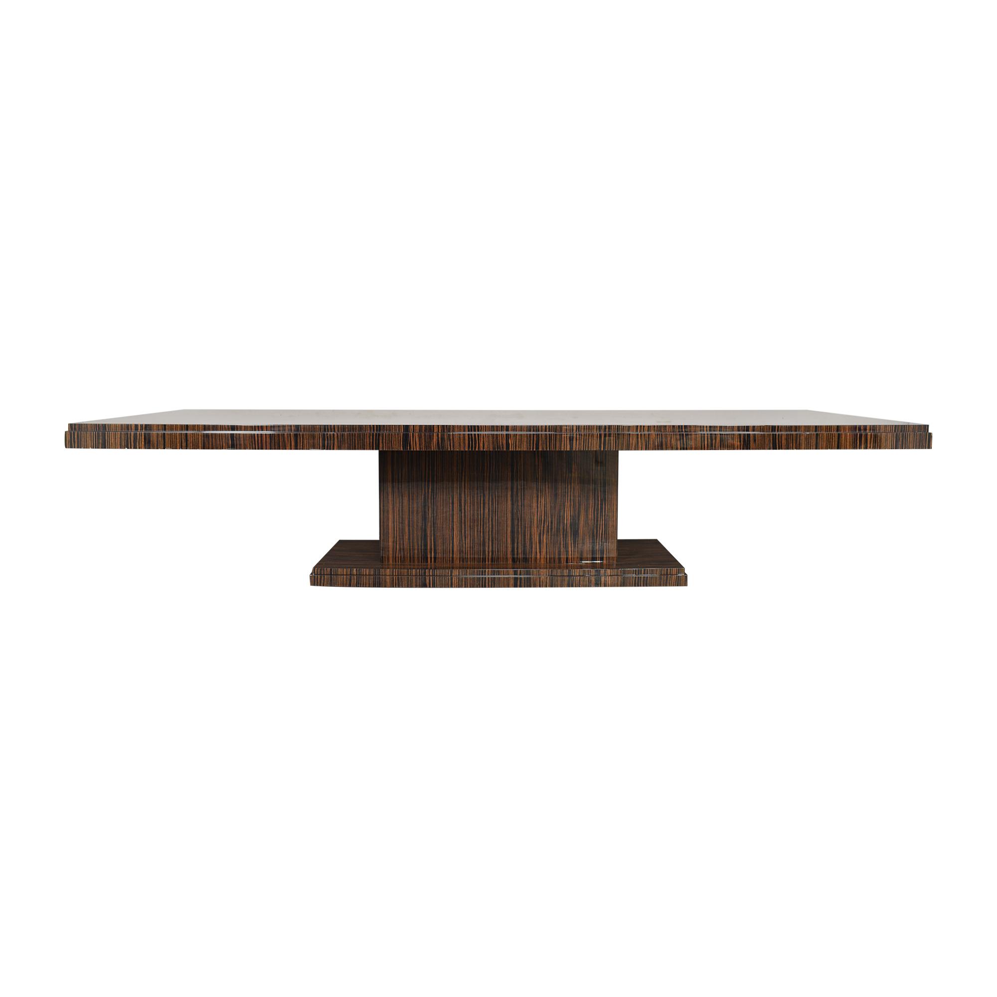 Custom Rectangular Pedestal Dining Table / Tables