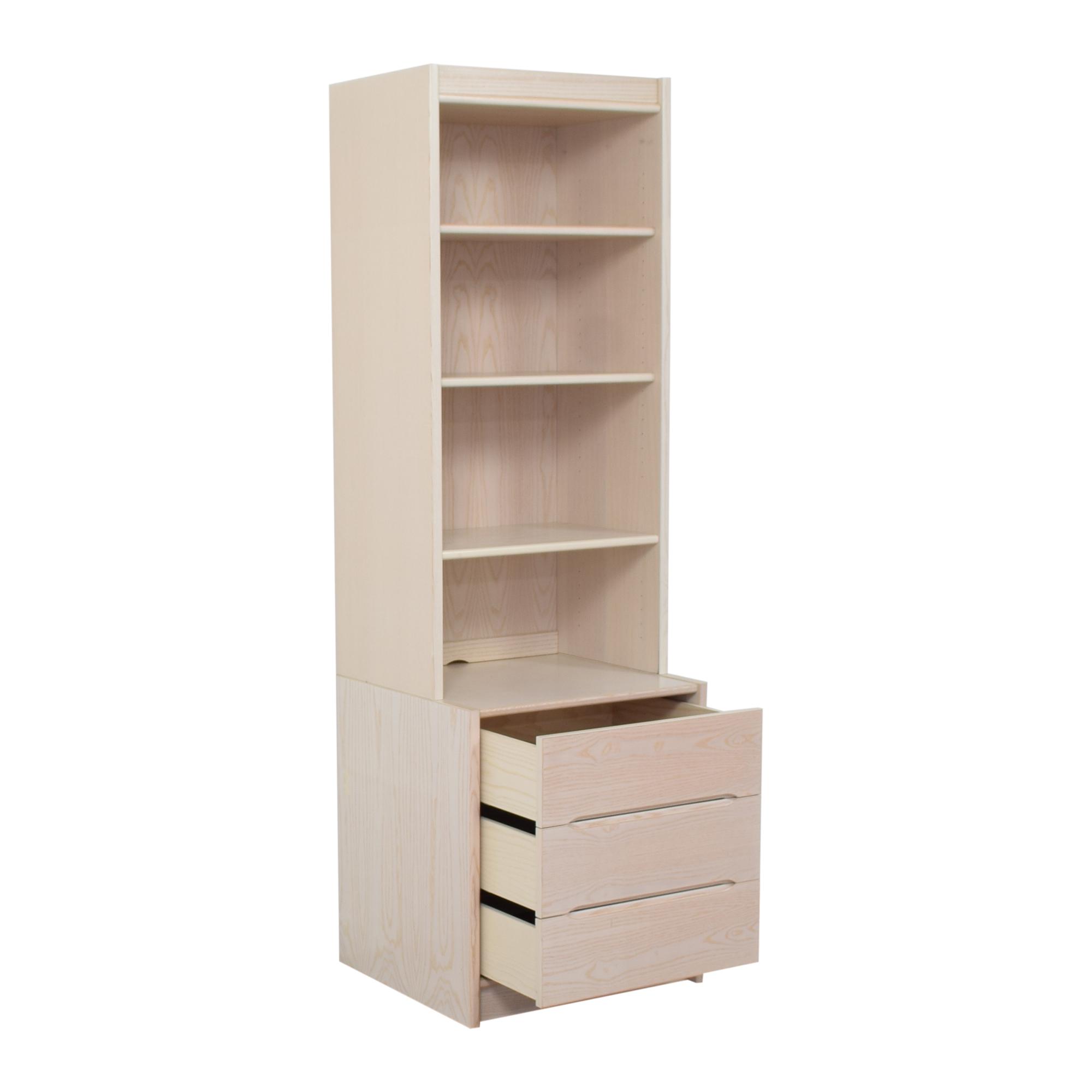 Door Store Door Store Bookcase with Three Drawers dimensions