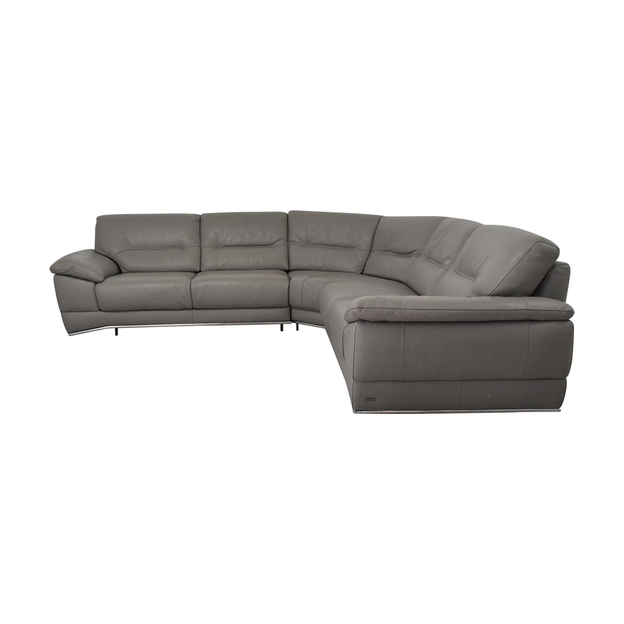 Natuzzi Natuzzi Corner Sectional Sofa dimensions