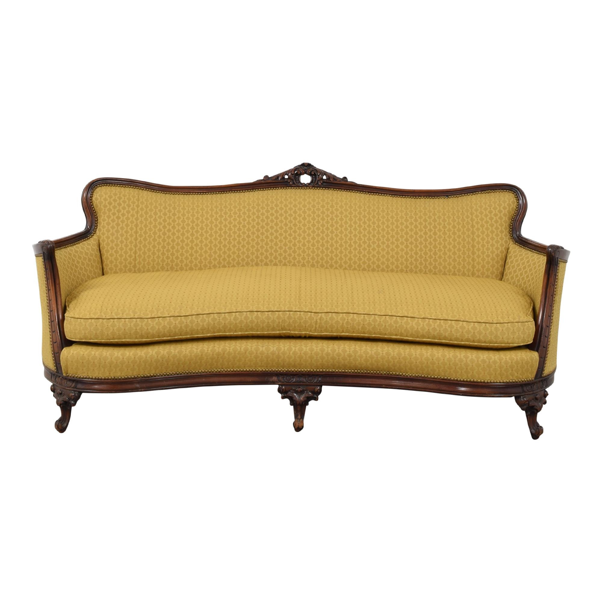 Vintage-Style Bench Cushion Sofa used