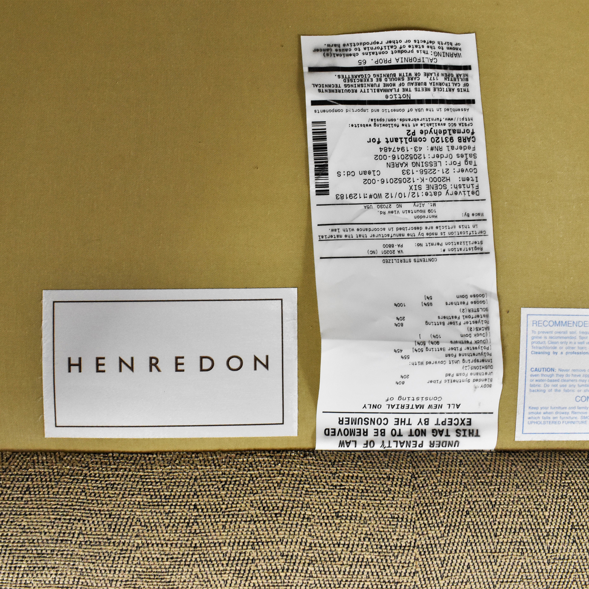 Henredon Furniture Henredon Furniture Mid-Century Modern Couch price