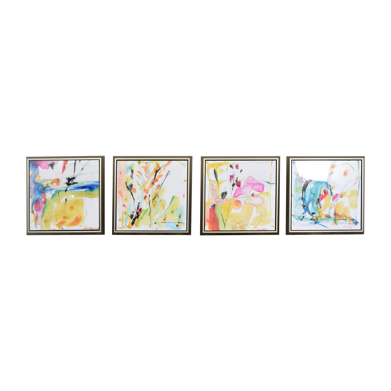 buy Horchow Four Piece Wall Art Set Horchow Decor