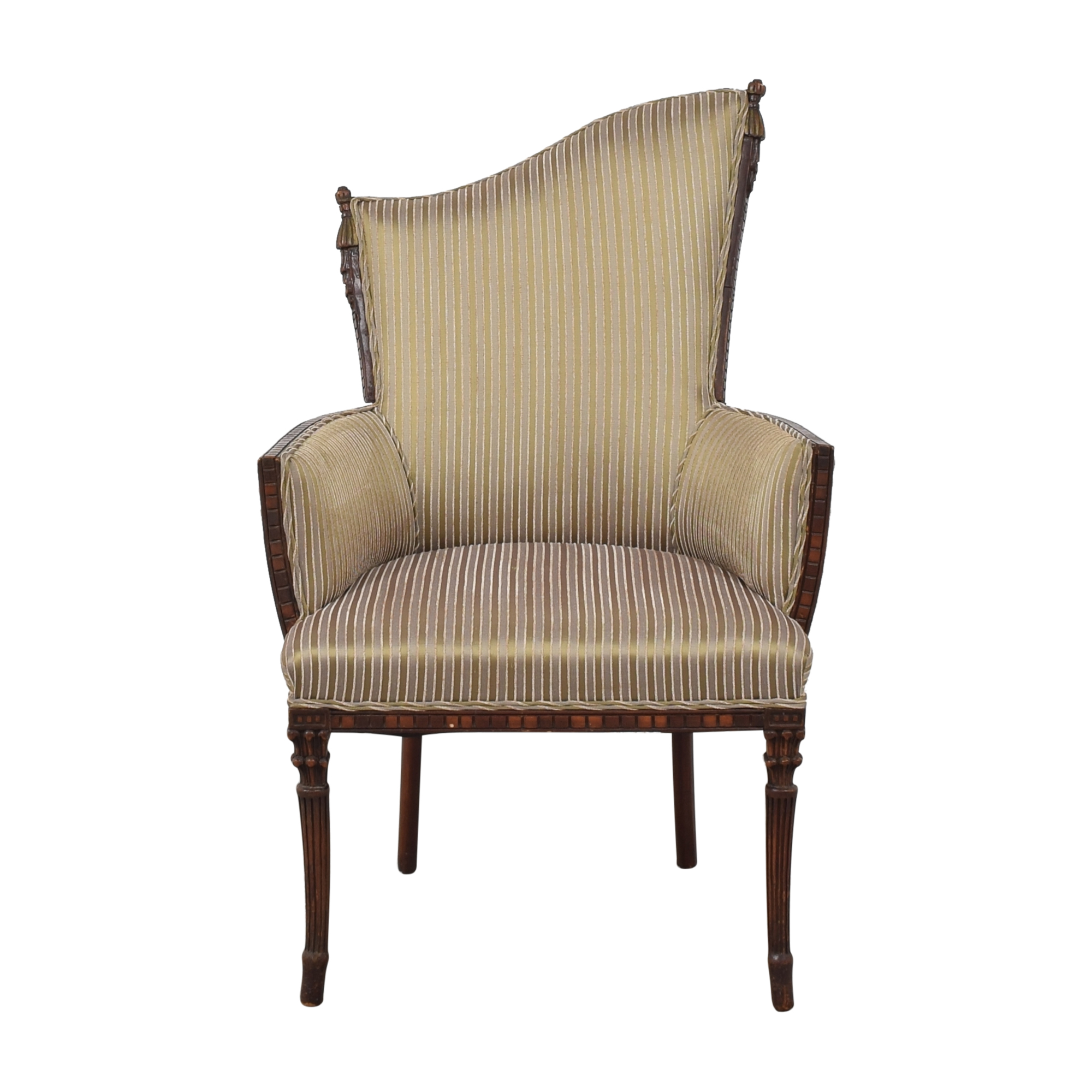 Custom Upholstered Art Deco-Style Arm Chair sale