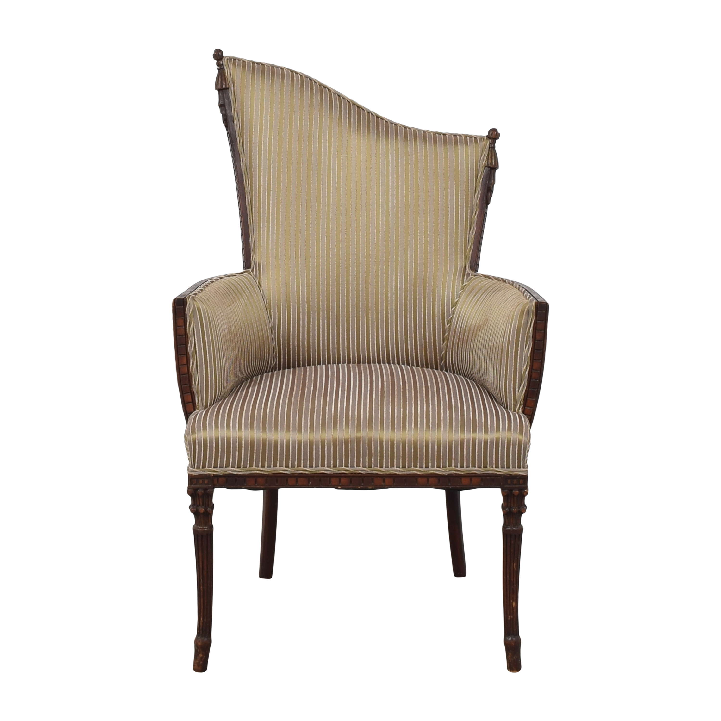 Custom Upholstered Art Deco-Style Arm Chair nyc