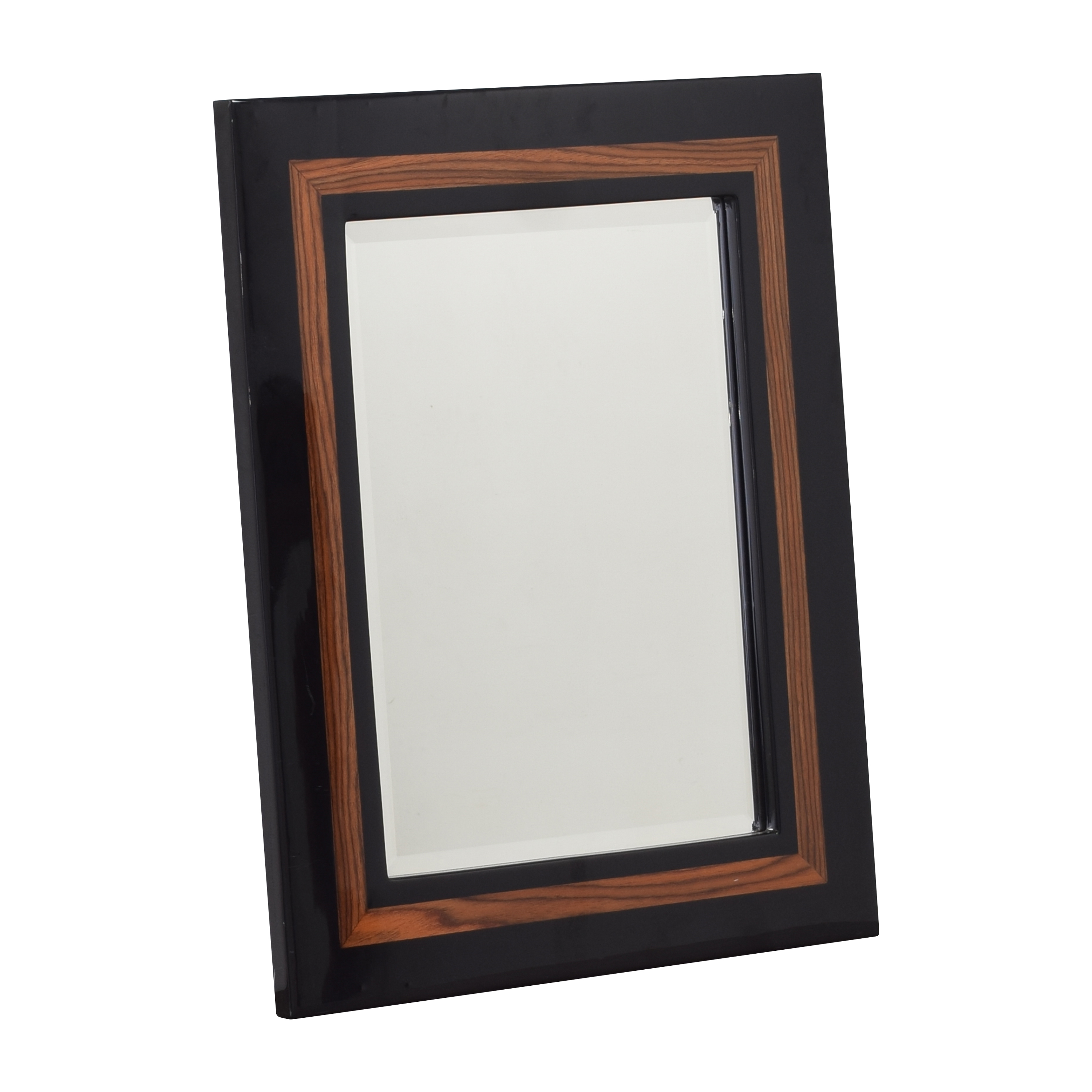 Framed Wall Mirror black and brown