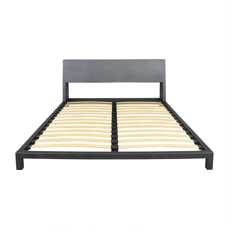 CB2 CB2 Alpine Gunmetal Queen Bed Bed Frames