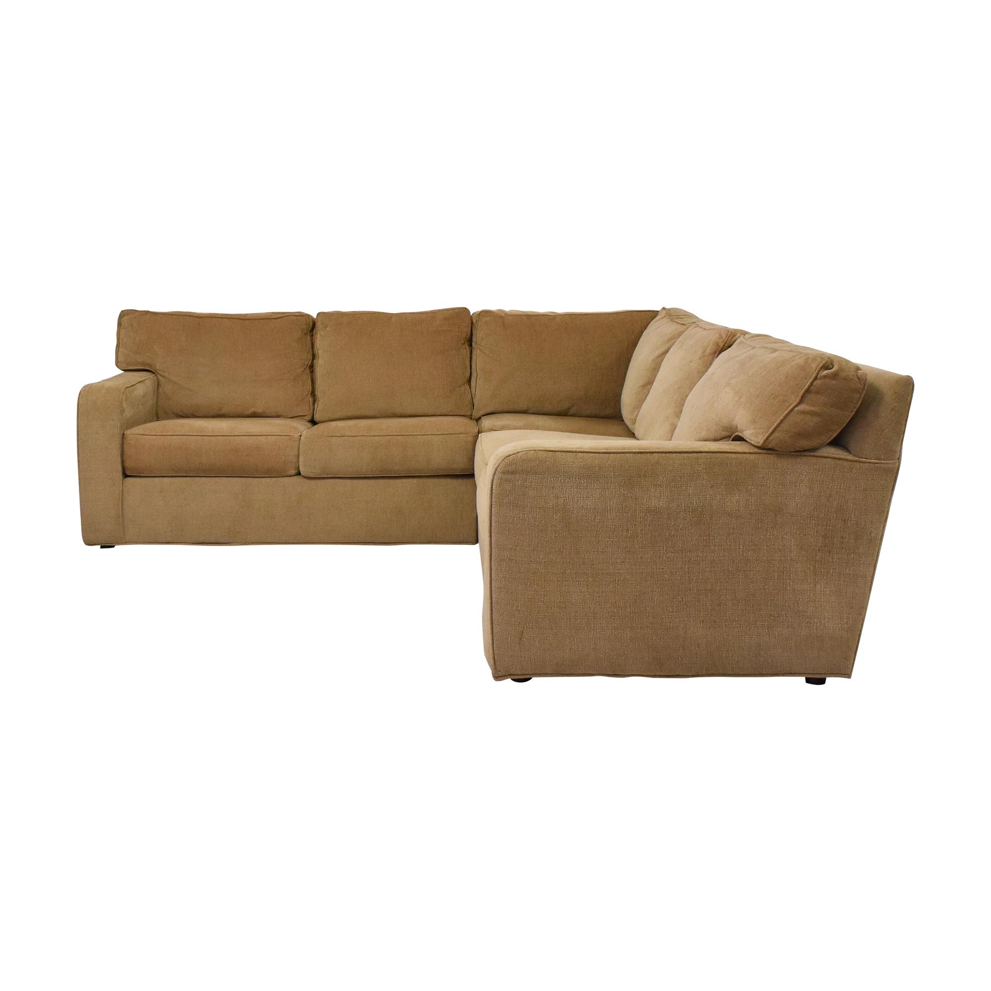 Ethan Allen Ethan Allen Bennett Roll-Arm Three-Piece Sectional Sofa
