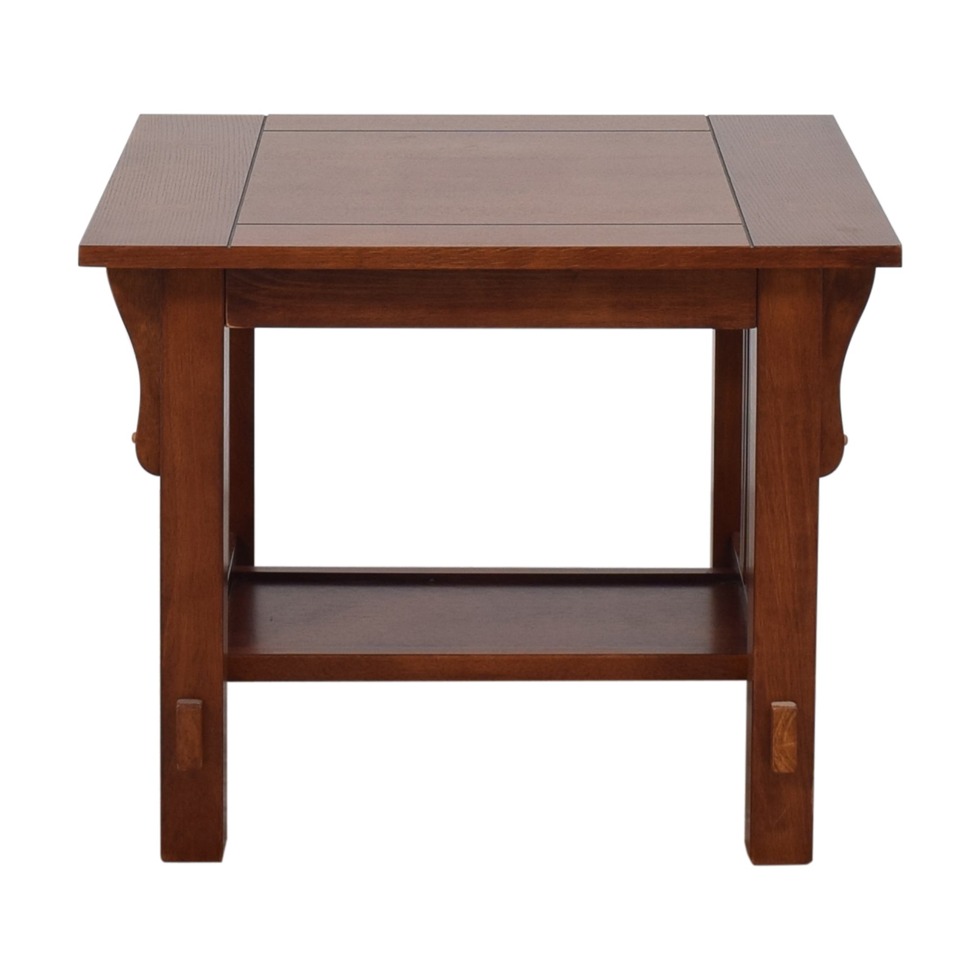 Mission-Style End Table Brown