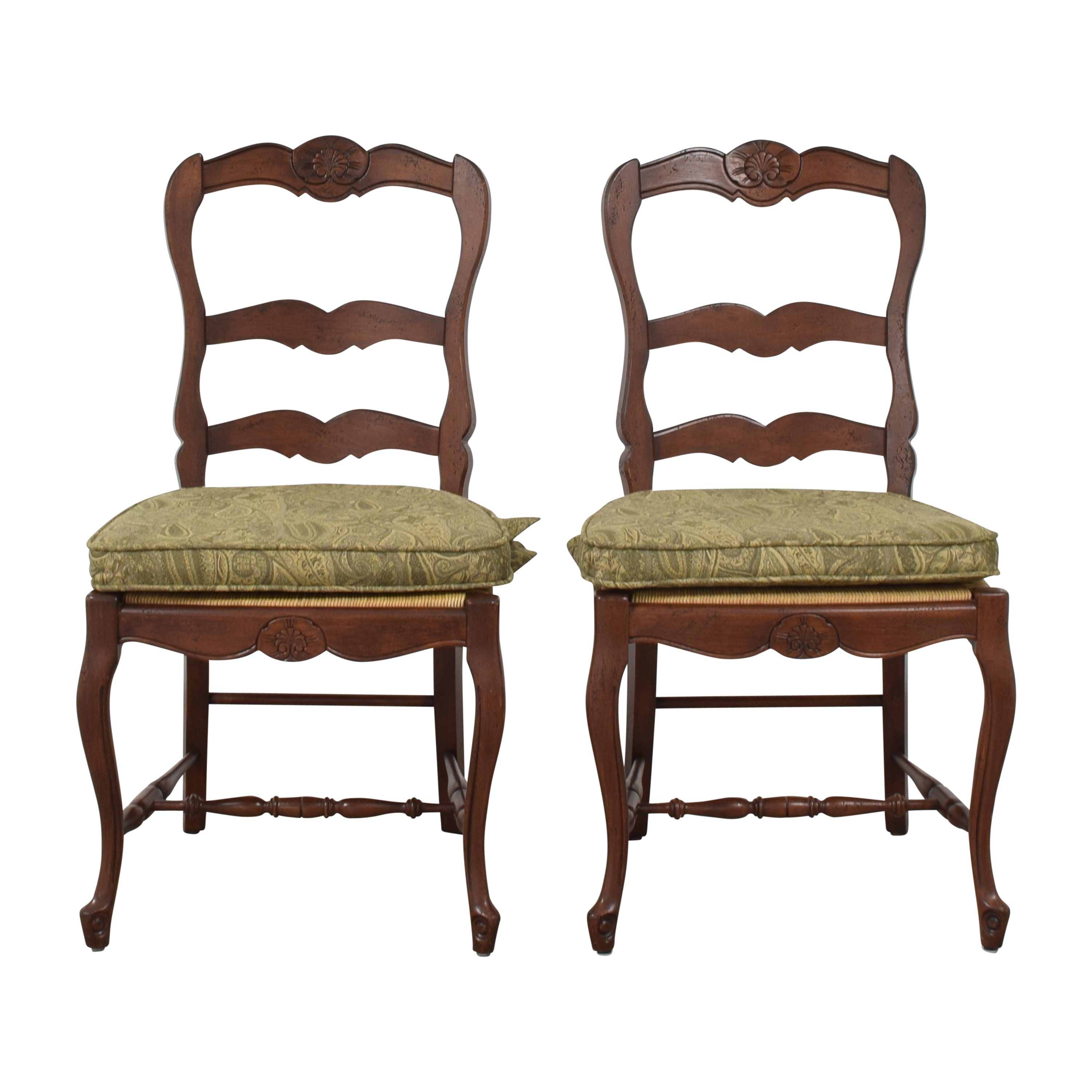 French Country Cane Seat Dining Chairs with Cushions discount