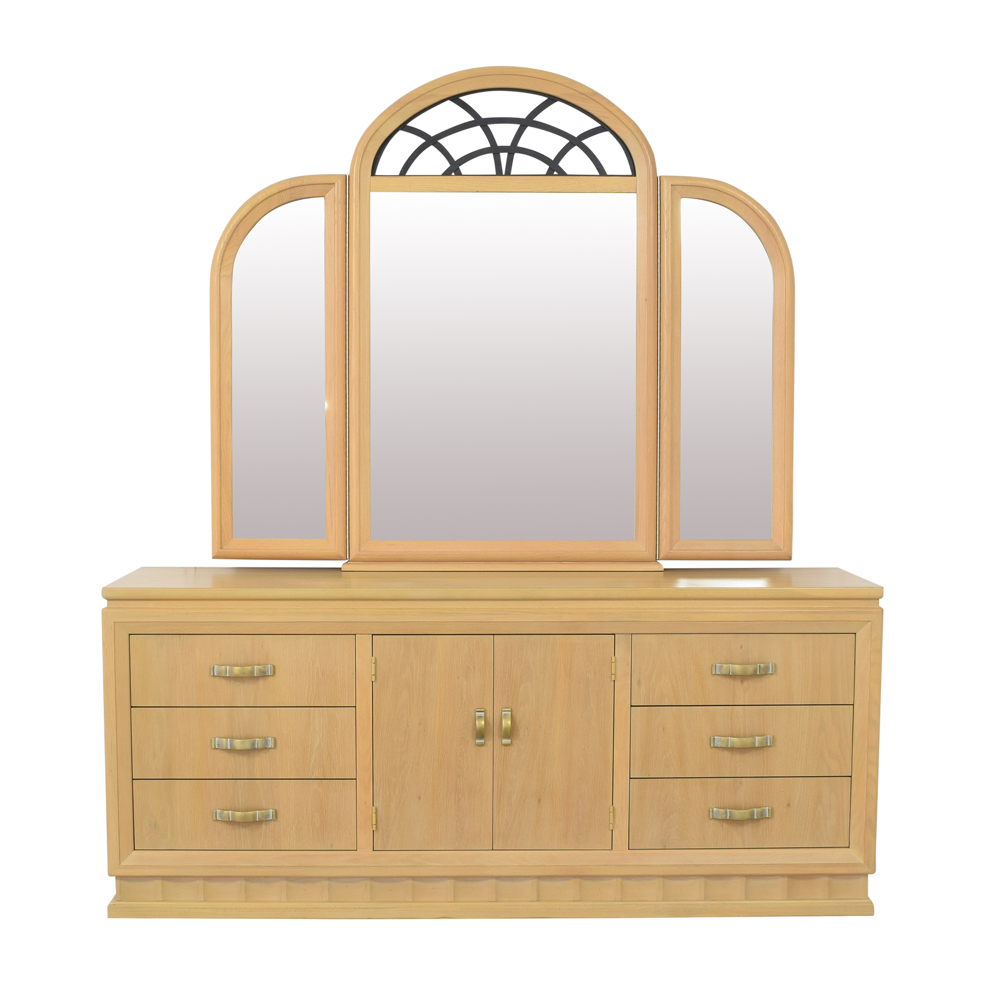 buy Thomasville Vintage-Style Dresser with Mirror Thomasville Storage