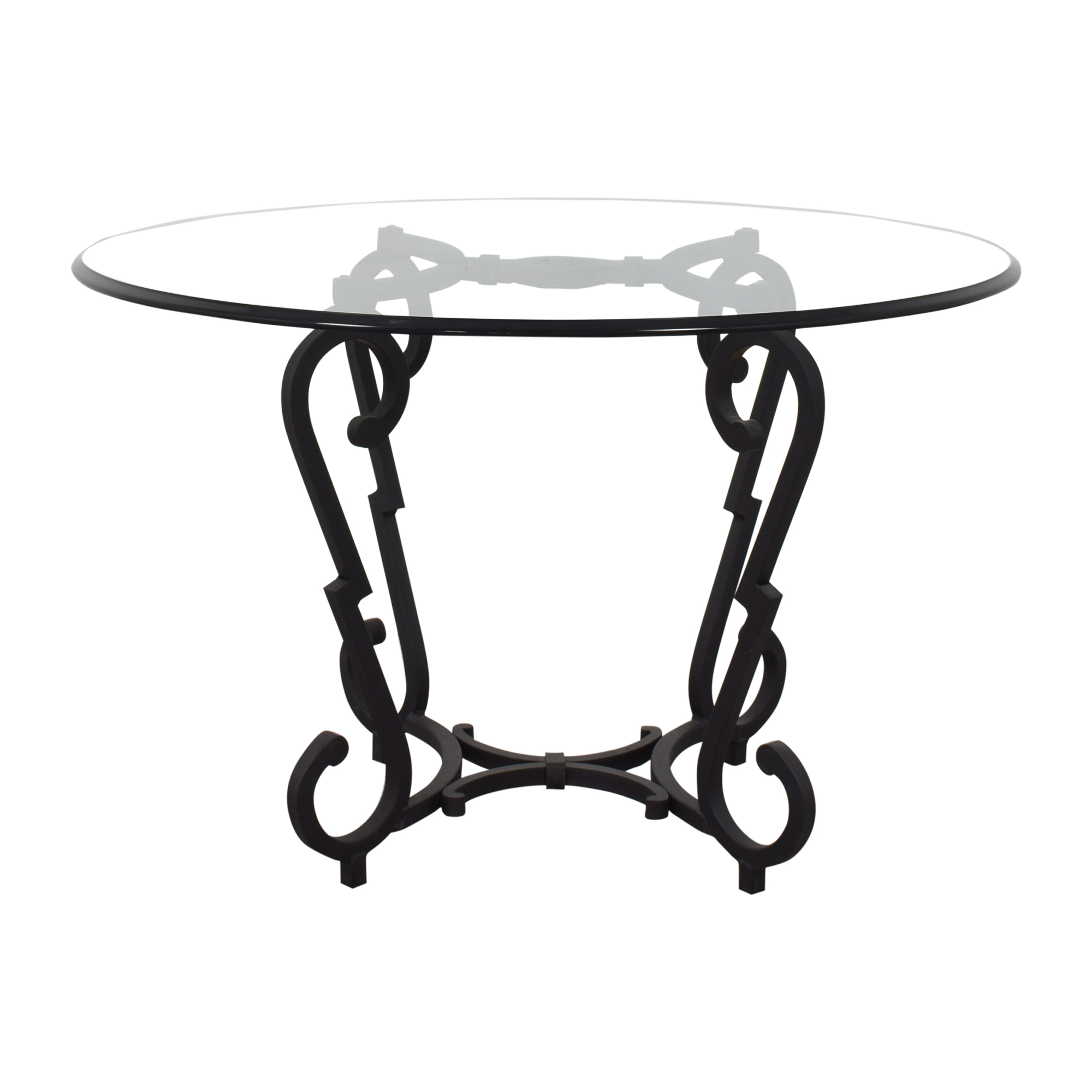 buy Arteriors Arteriors Transparent Round Foyer Table online