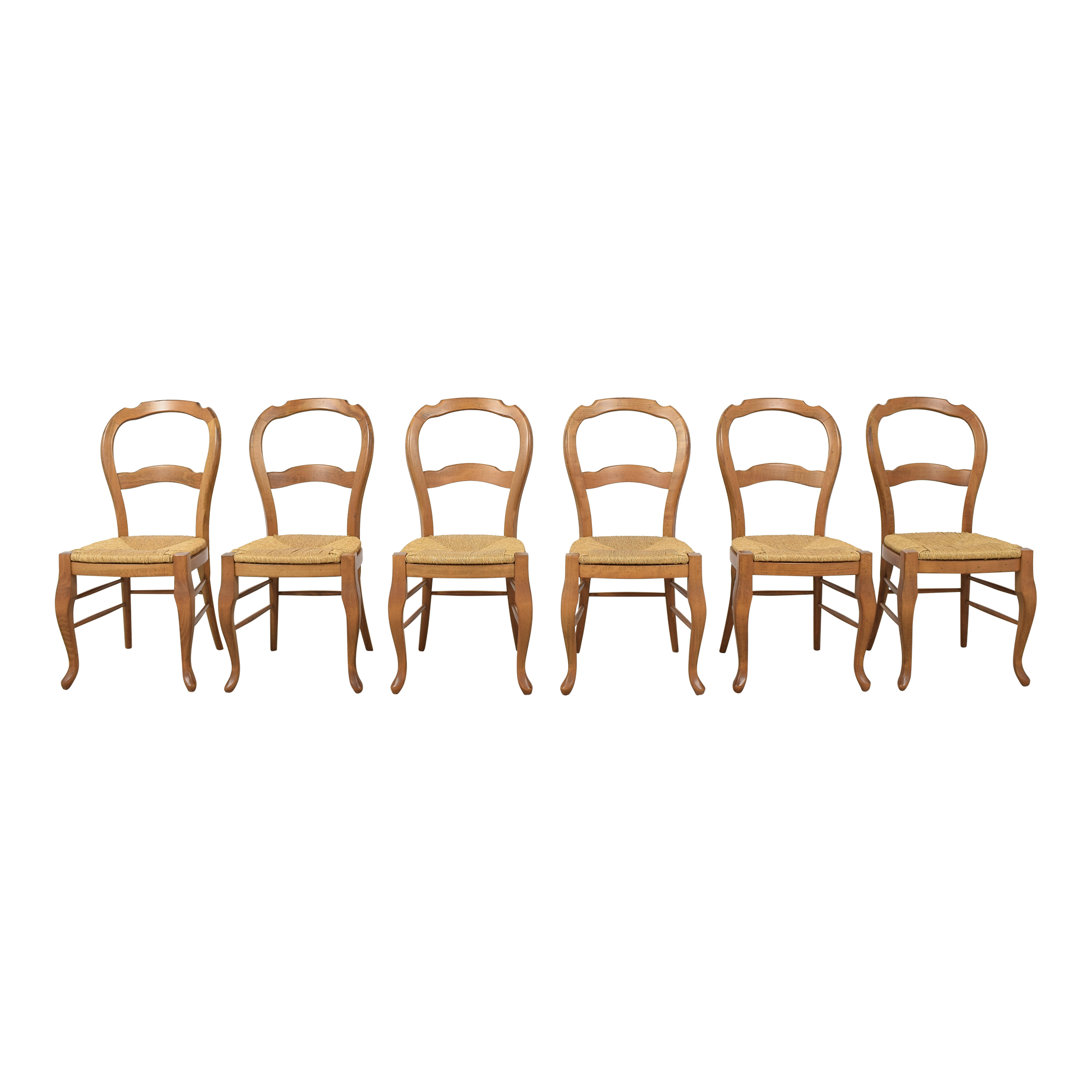 Pottery Barn Pottery Barn French Country Dining Side Chairs brown