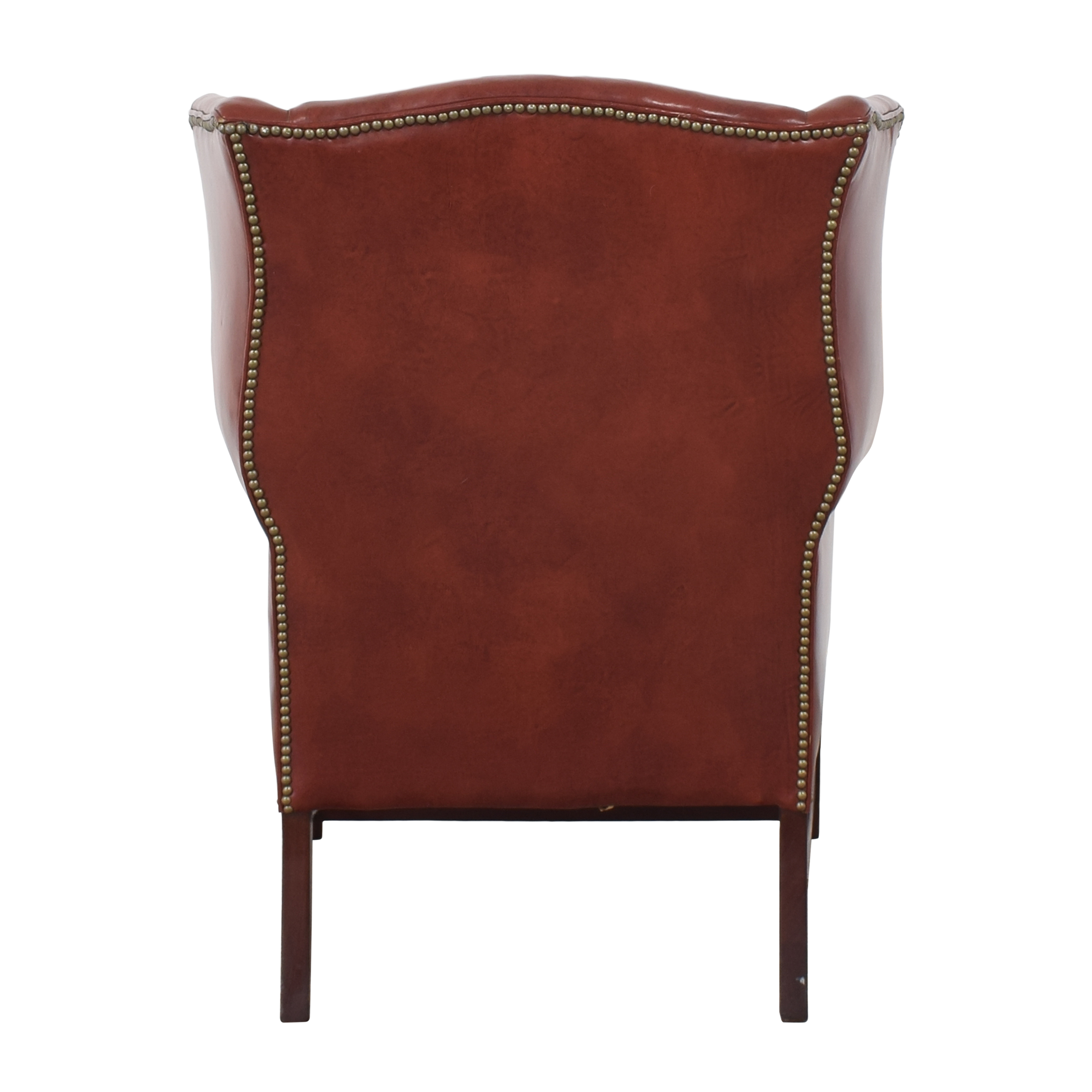 shop Classic Leather George III Wing Chair Classic Leather Accent Chairs