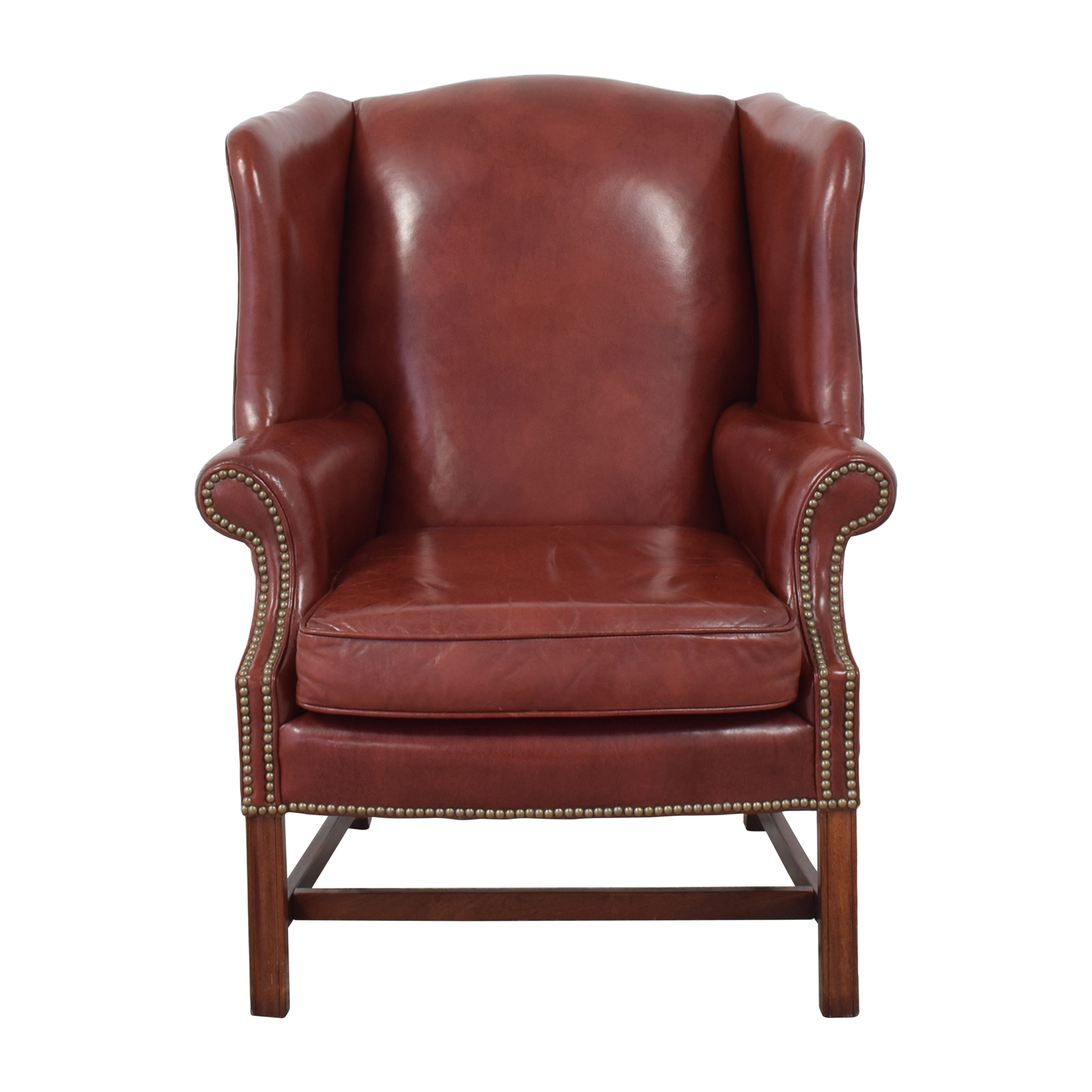 Classic Leather Classic Leather George III Wing Chair pa
