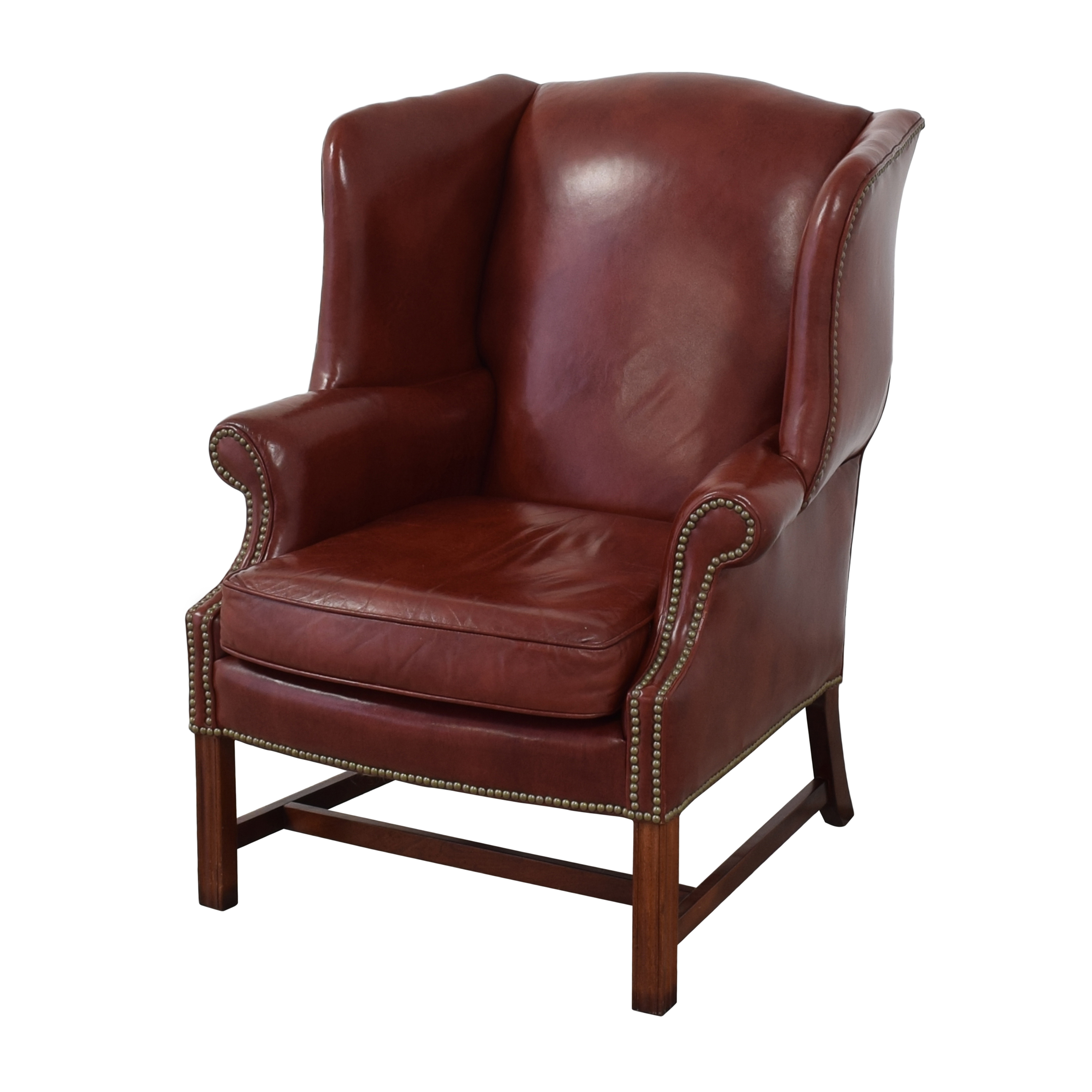 Classic Leather Classic Leather George III Wing Chair Accent Chairs