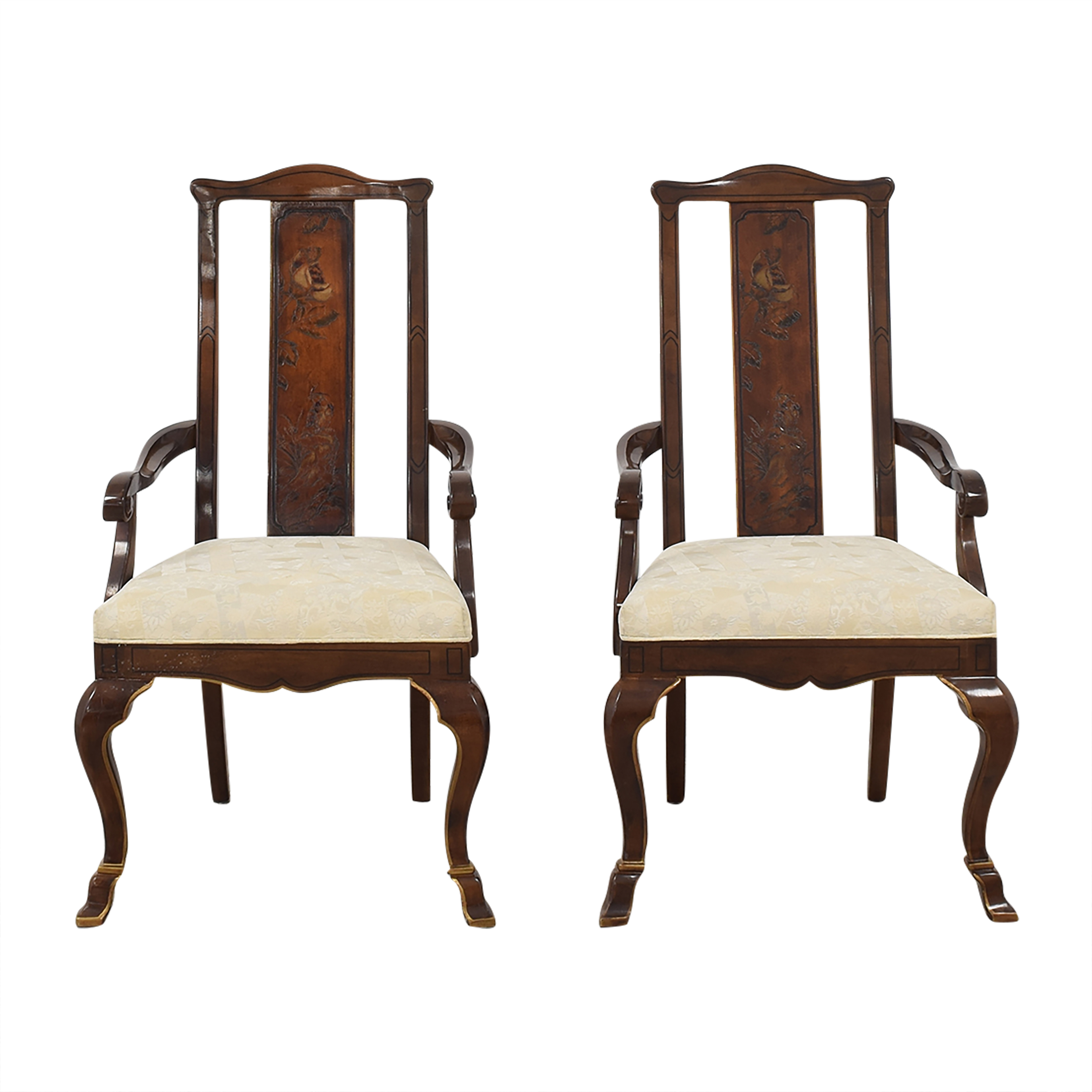 Drexel Heritage Drexel Heritage High Back Dining Chairs Brown