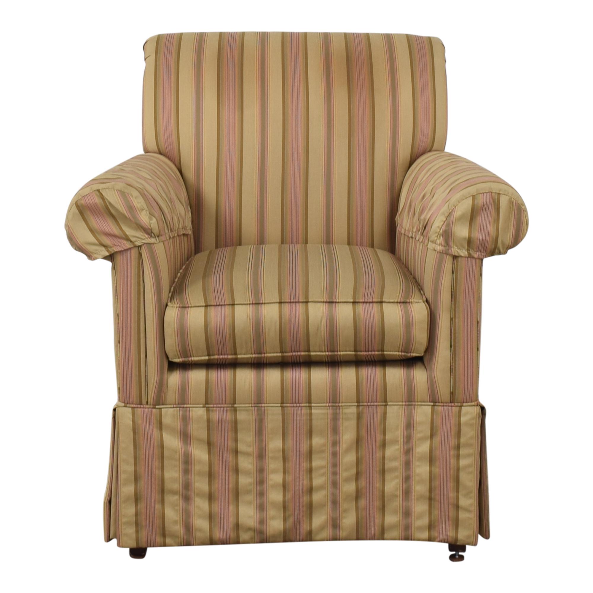 Ethan Allen Striped Accent Chair Ethan Allen