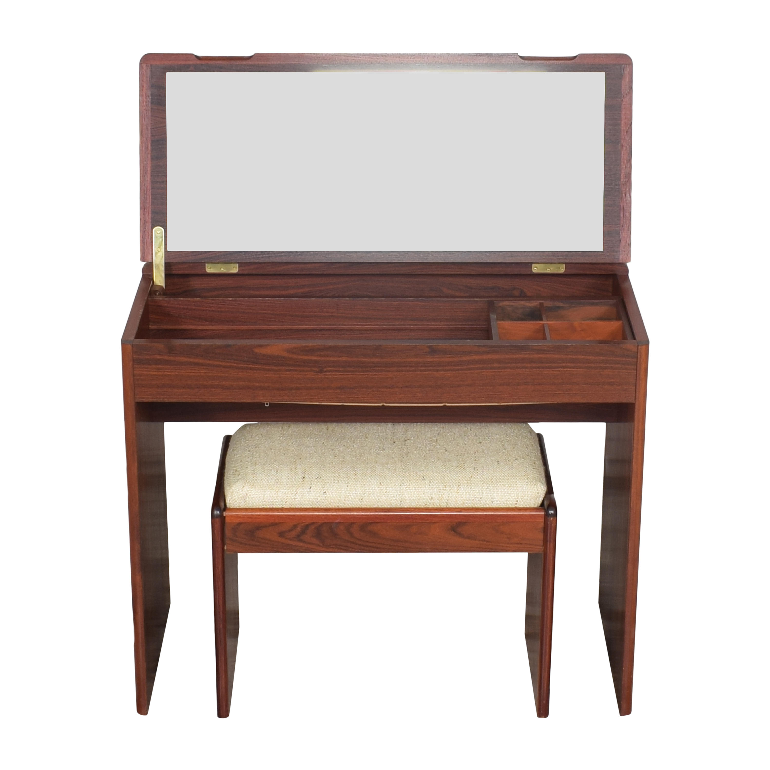 shop Vintage-Style Vanity with Cushioned Stool