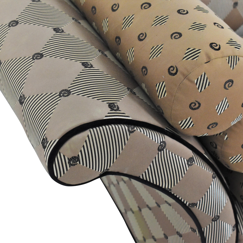 Kincaid Furniture Kincaid Flared Arm Modern Sofa Brown / Beige