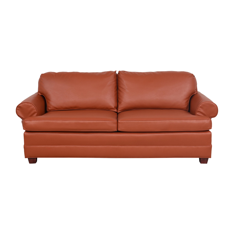 buy Roll Arm Two Cushion Sofa