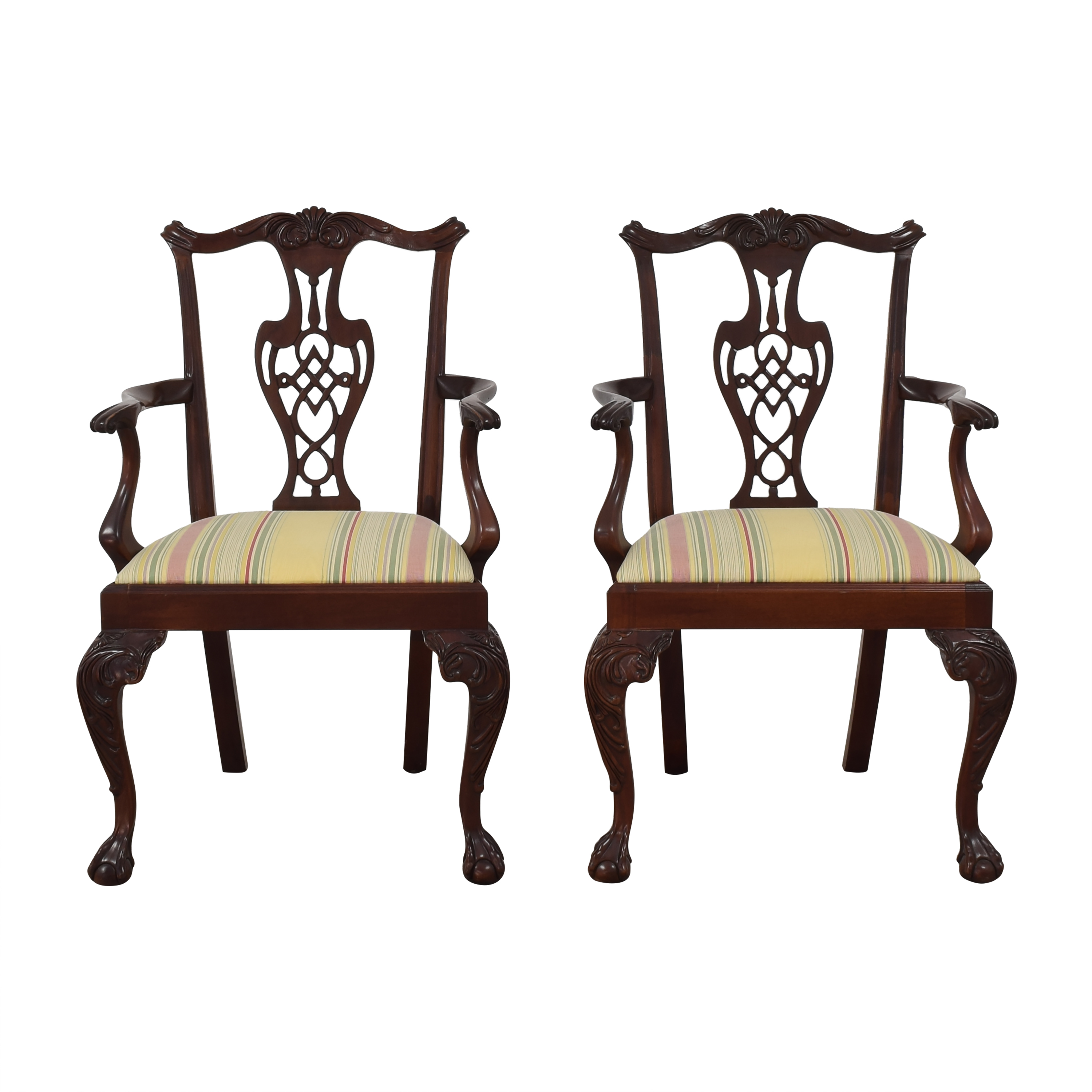 buy Hickory Chair Chippendale Dining Arm Chairs Hickory Chair Chairs