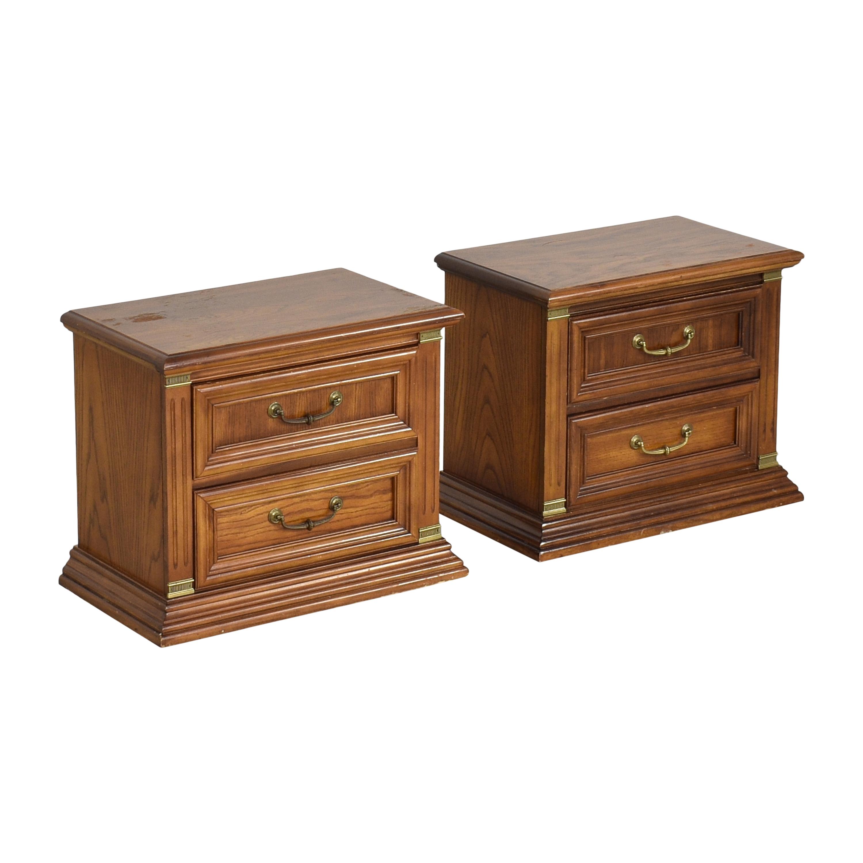 shop Bassett Two Drawer Nightstands Bassett Furniture Tables