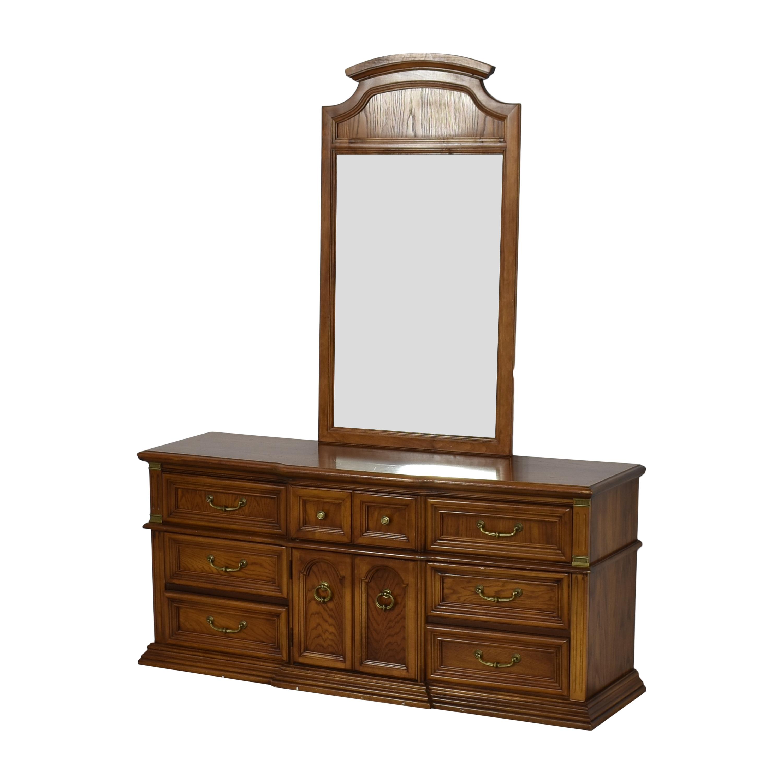 Bassett Furniture Bassett Furniture Dresser with Mirror on sale