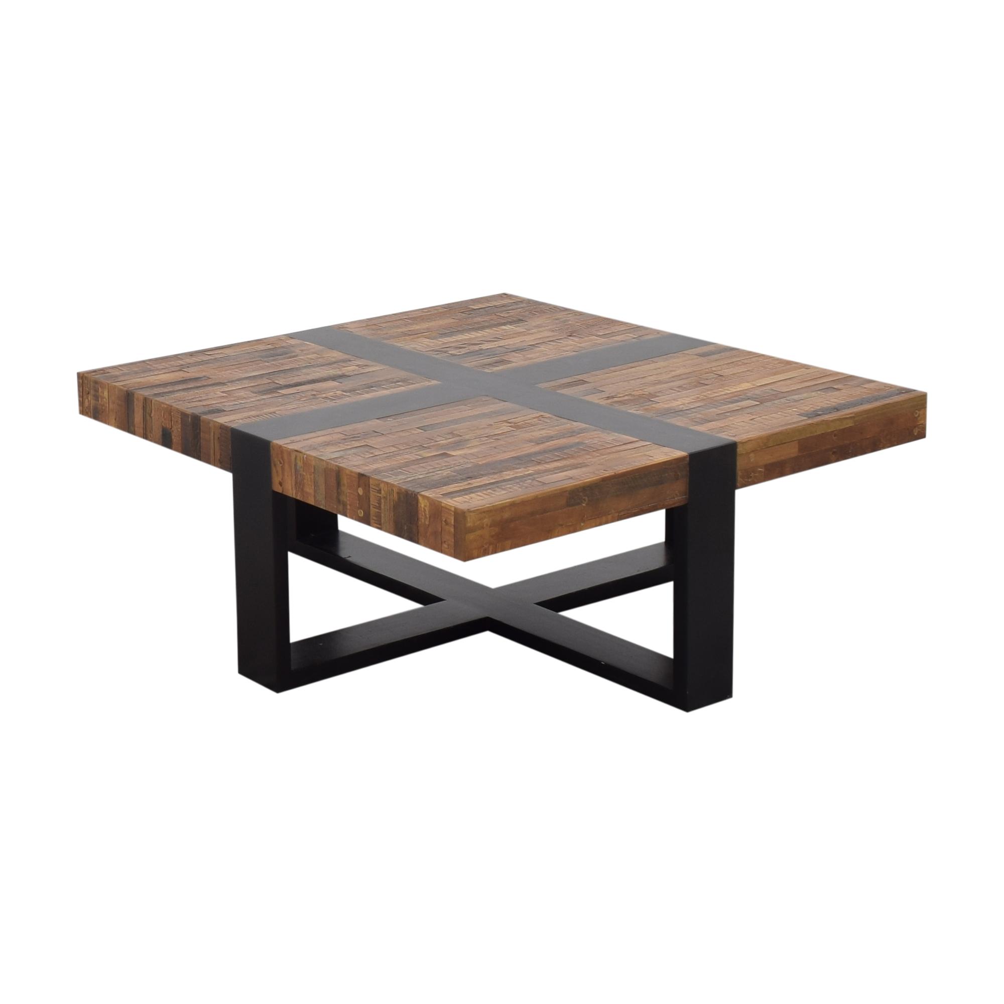 shop Crate & Barrel Seguro Square Coffee Table Crate & Barrel Coffee Tables