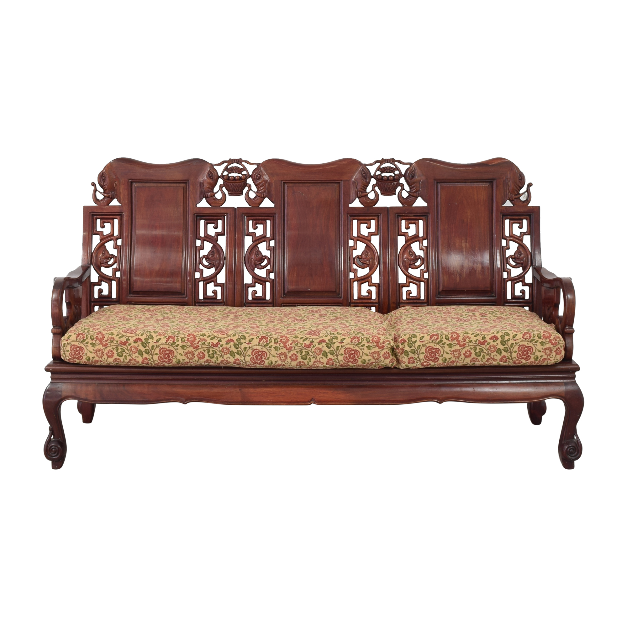 Carved Chinoiserie Sofa pa