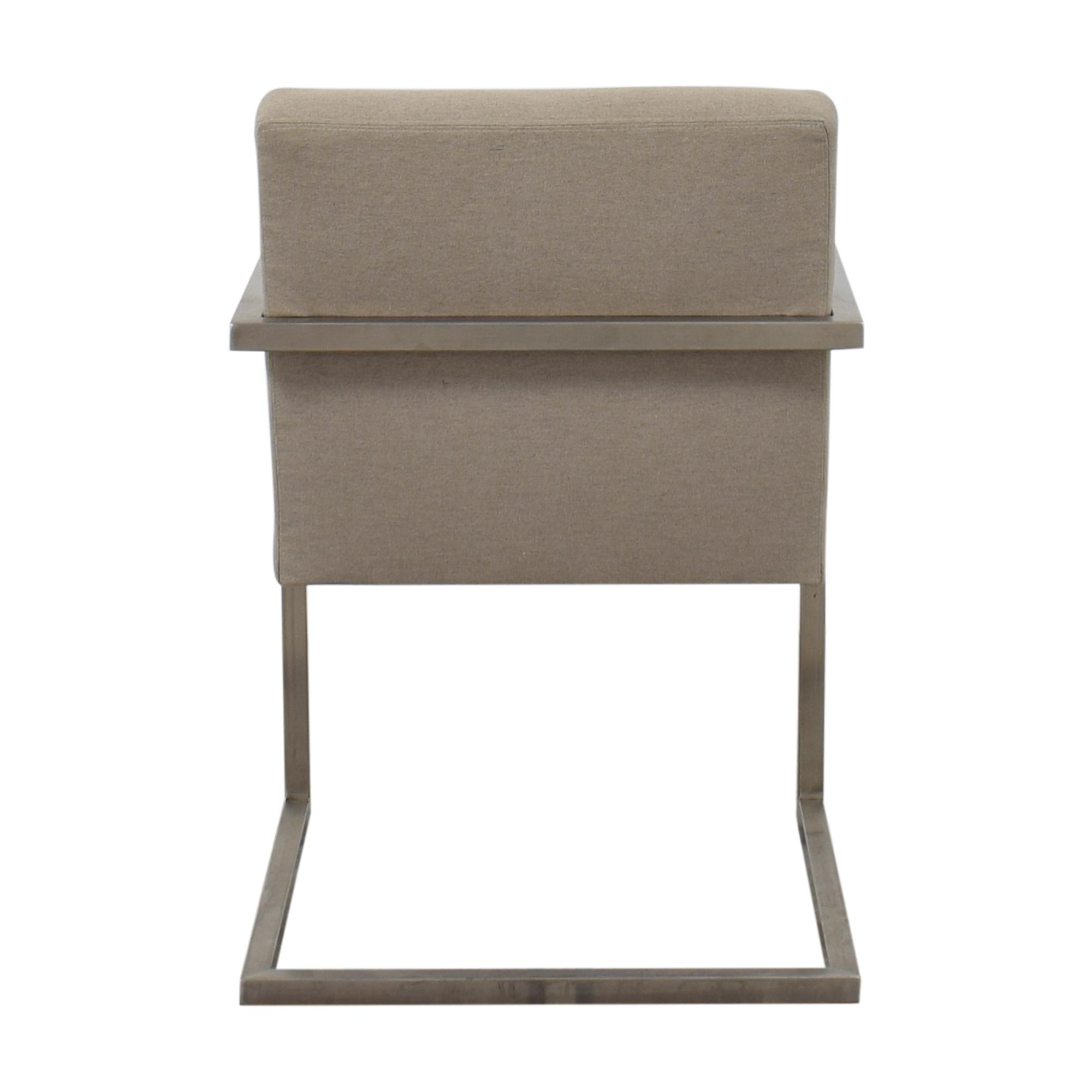 Room & Board Room & Board Lira Dining Arm Chair silver & grey